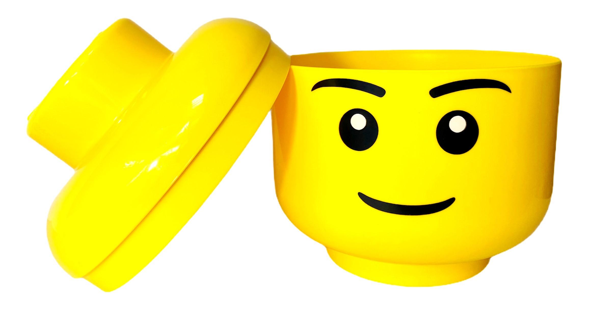 POJEMNIK LEGO GŁOWA L DUŻA CHŁOPIEC NA KLOCKI NA PREZENT