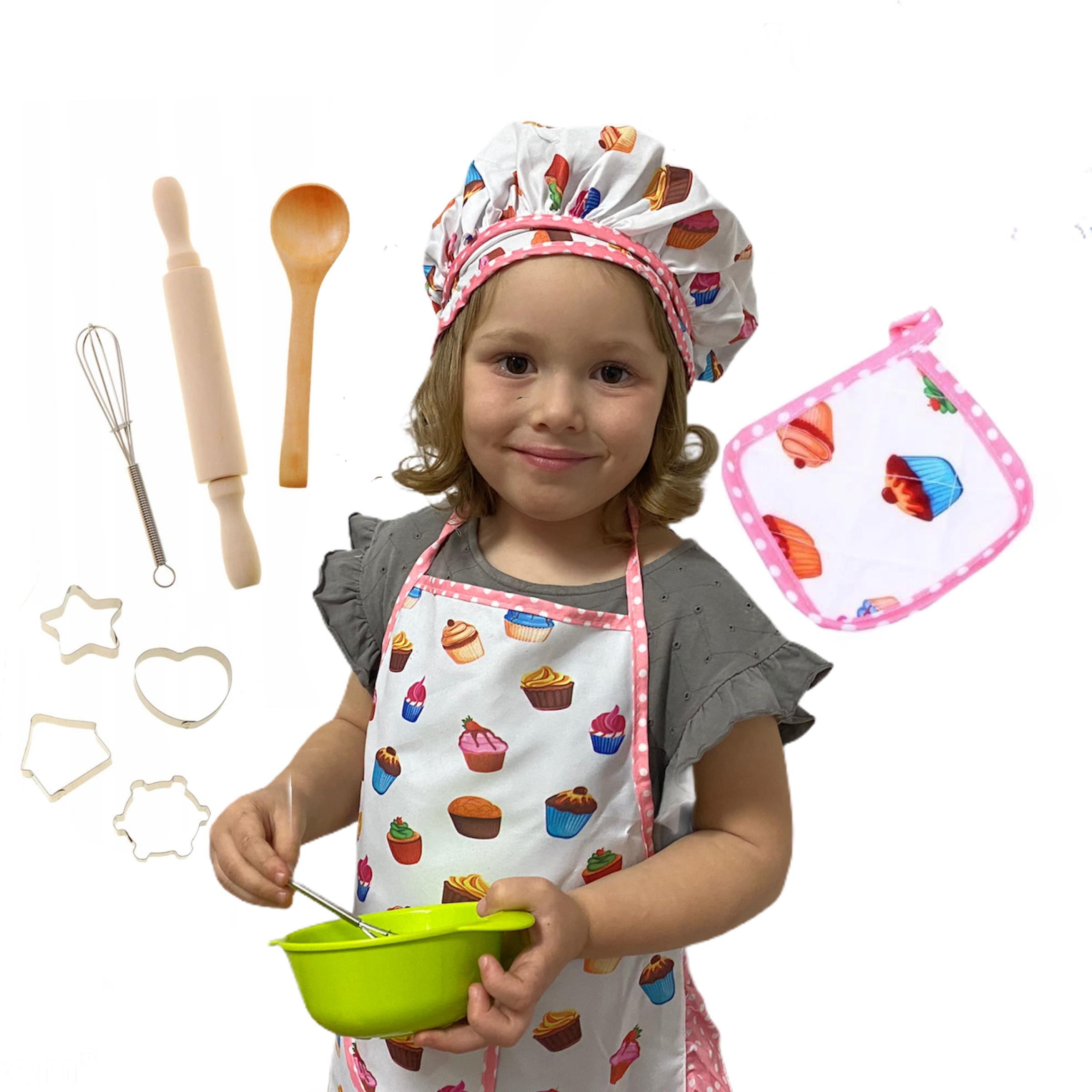 Fartuszek kuchenny dla dzieci Master Chef Zestaw 10 w 1