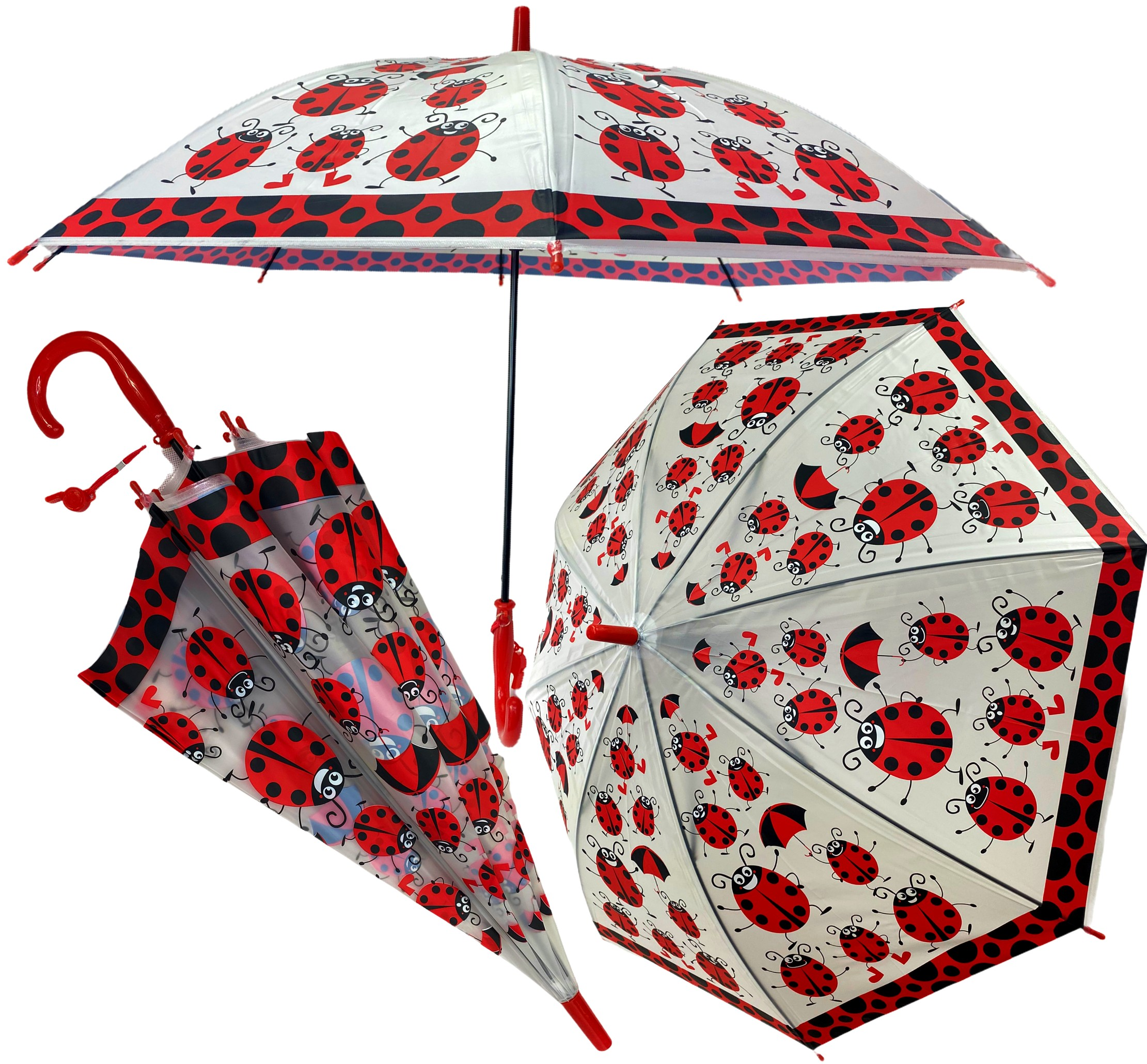 Parasol przeciwdeszczowy dla dzieci biedronki parasolka