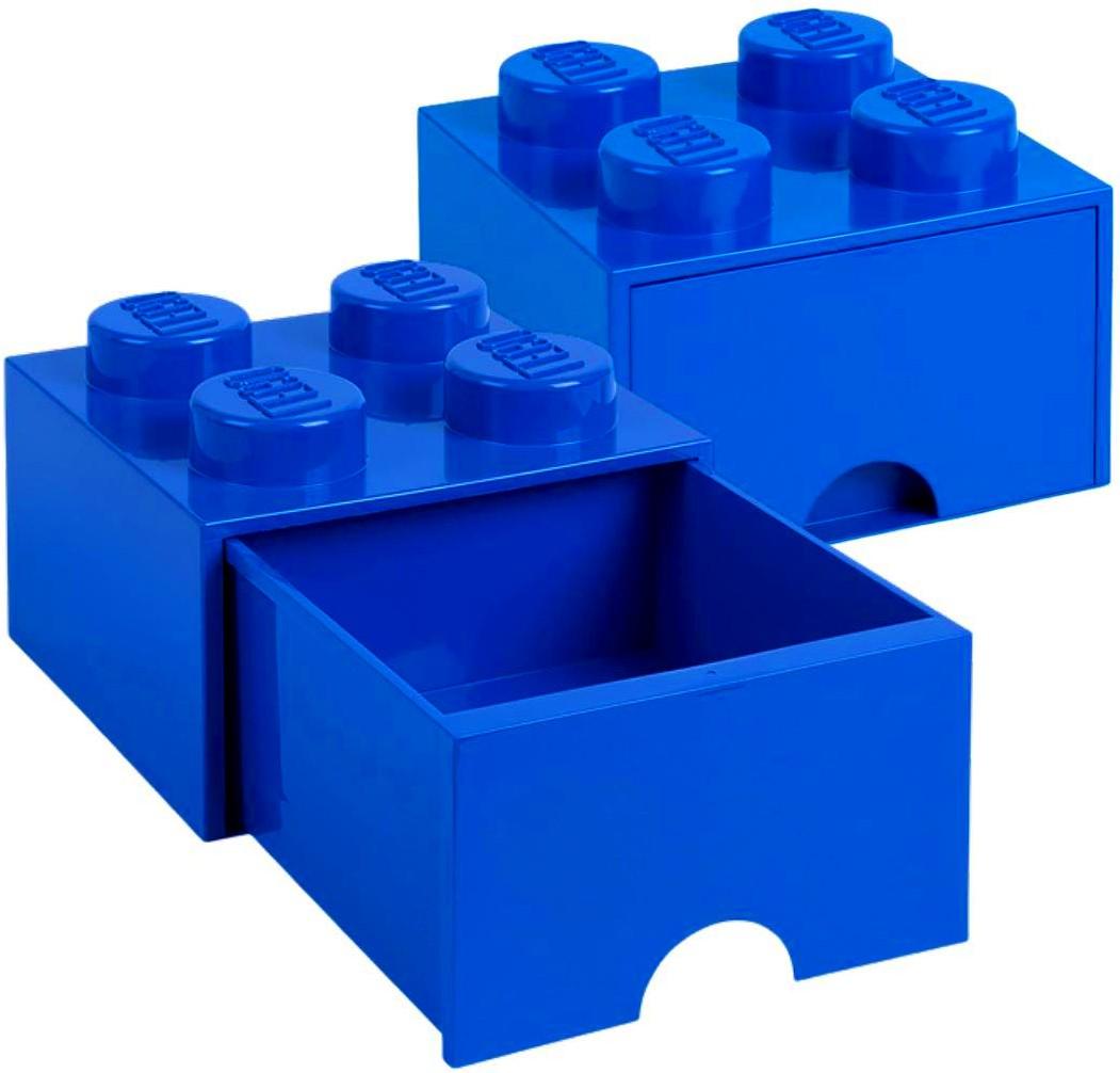 POJEMNIK LEGO NIEBIESKI 4 SZUFLADA na klocki zabawki