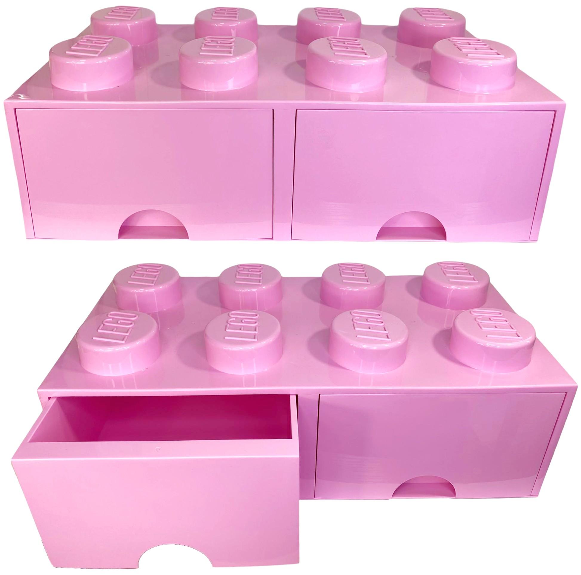 POJEMNIK LEGO 8 szuflada jasnoróżowy na klocki prezent