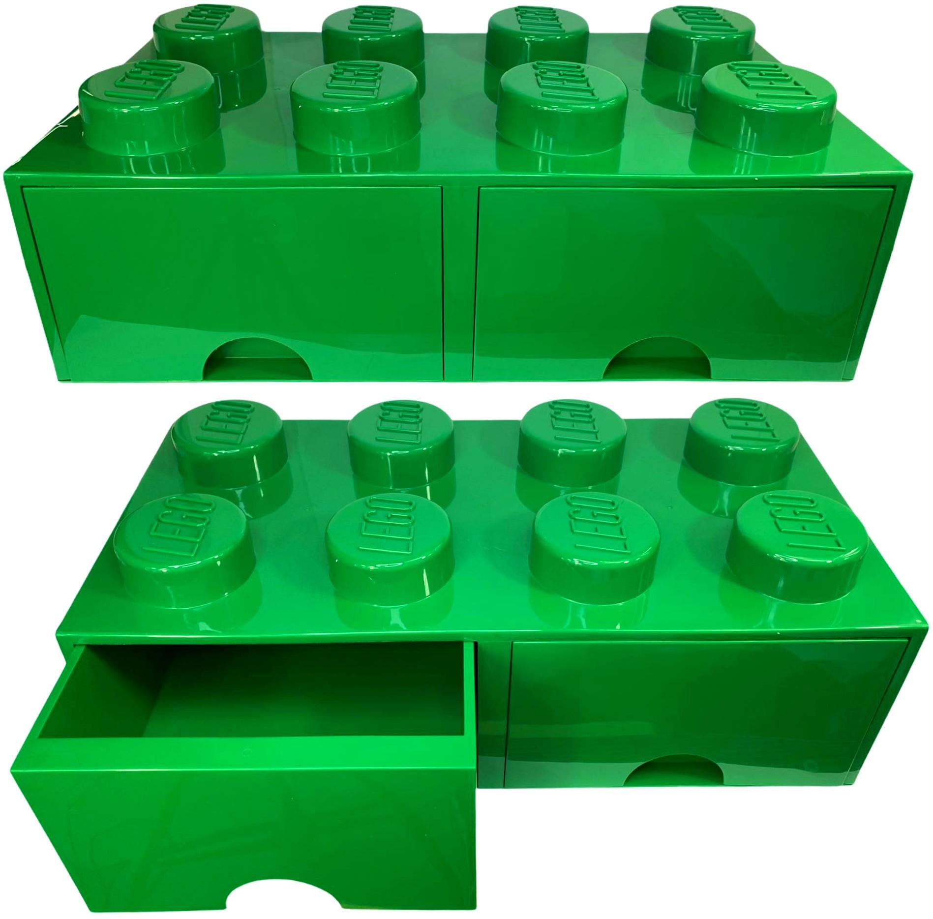 Pojemnik LEGO 8 szuflada zielony na klocki prezent