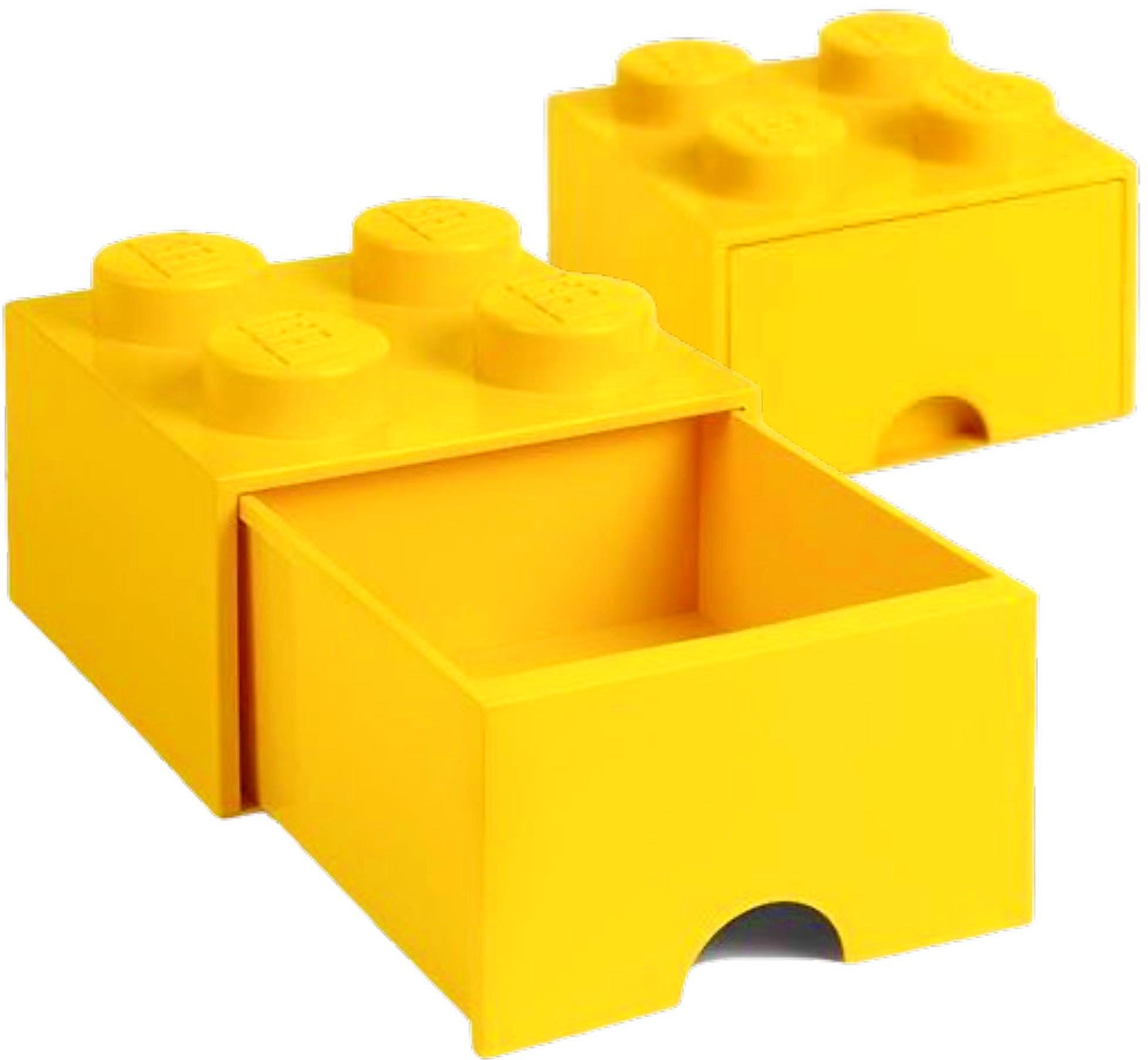 Pojemnik 4 szuflada LEGO ZÓŁTY