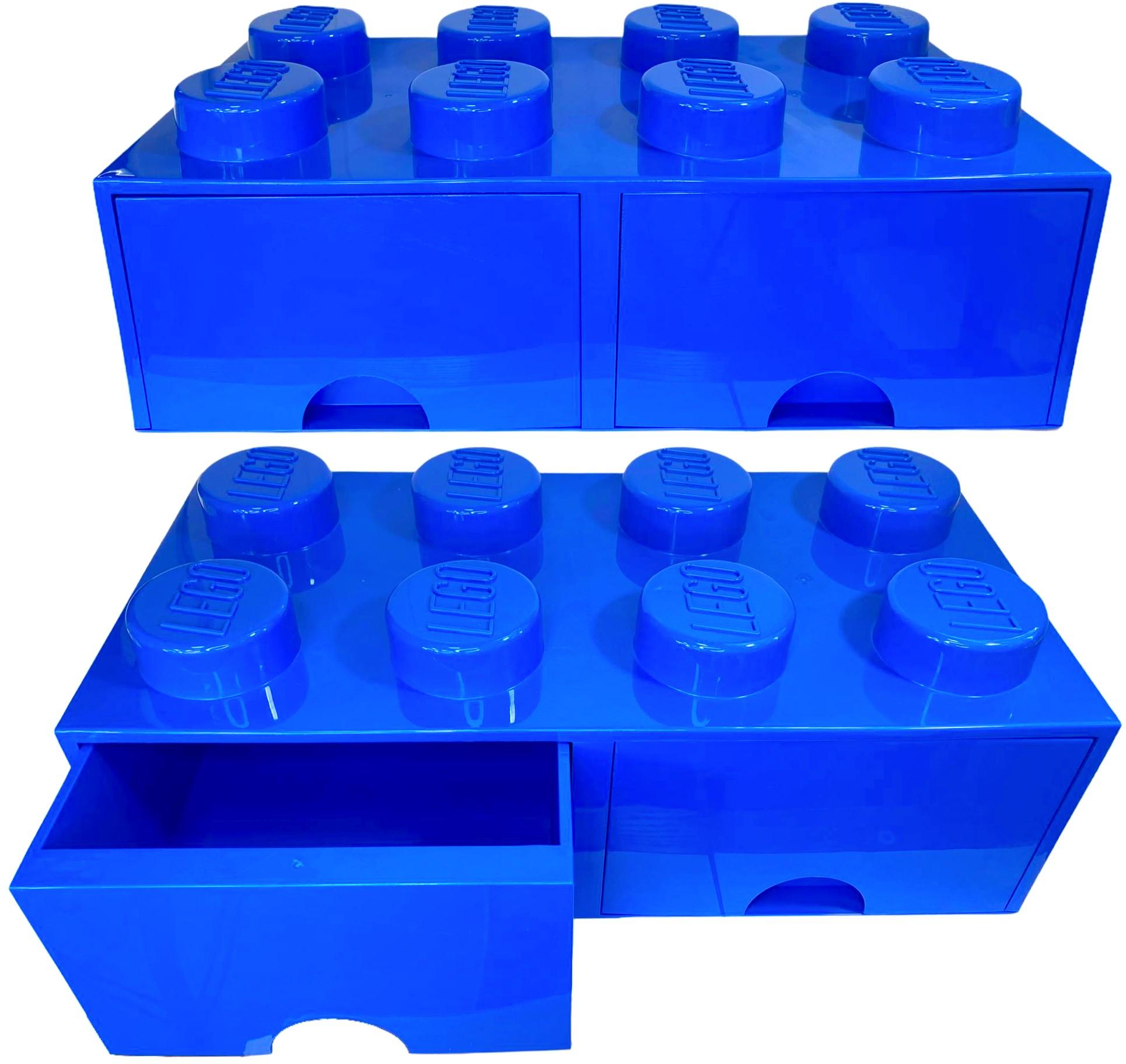 Pojemnik LEGO 8 szuflada niebieski na prezent klocki
