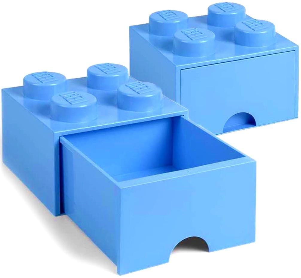 Pojemnik Lego jasnoniebieski 4 szuflada na klocki