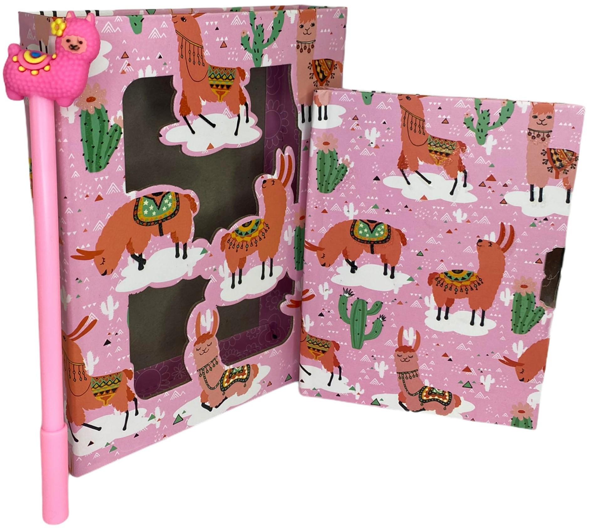 Pamiętnik Notes Lama na kluczyk + długopis