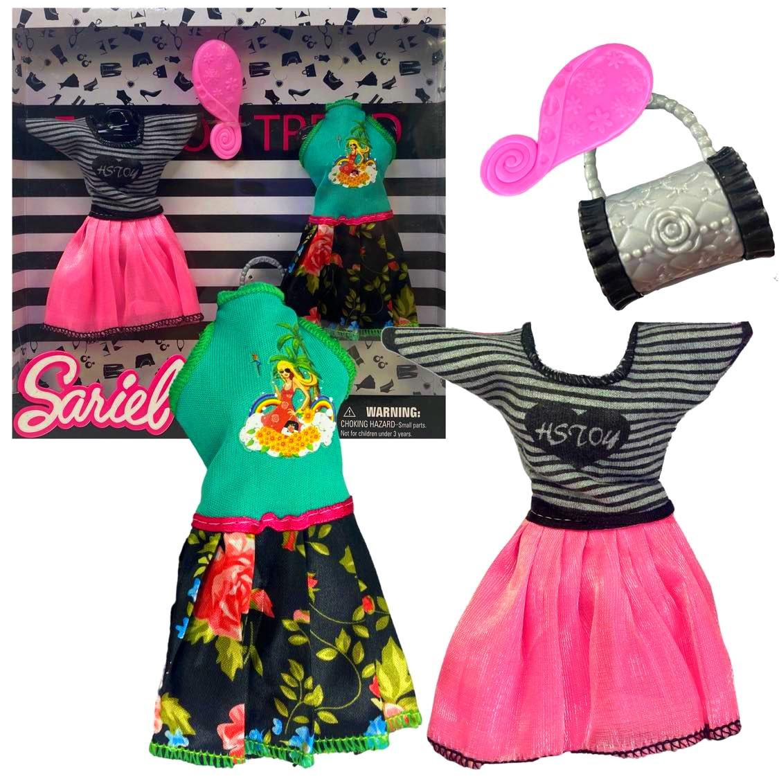 Ubranka dla lalki Barbie ZESTAW AKCESORIÓW
