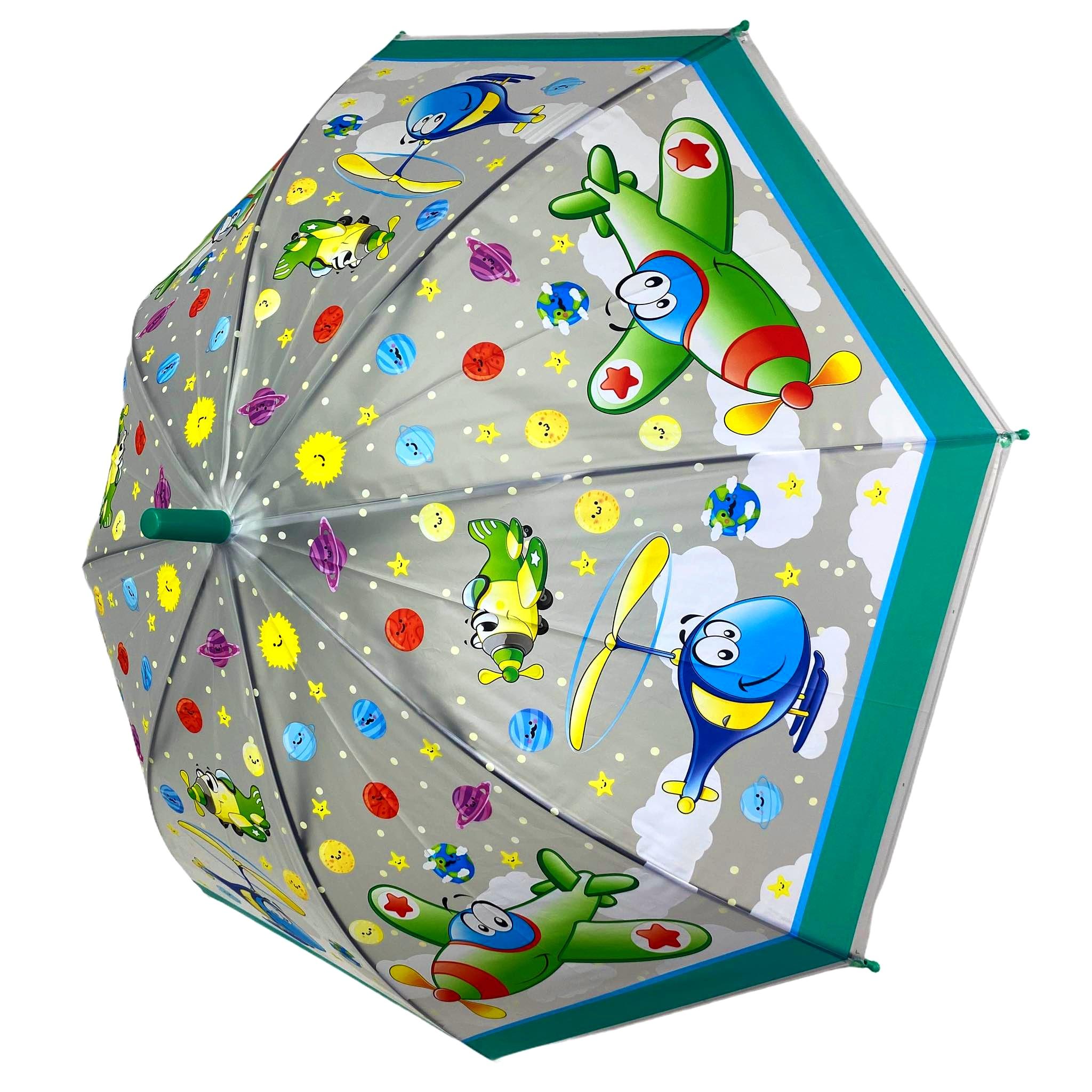 Parasolka przeciwdeszczowa dziecięca Samoloty dla dzieci