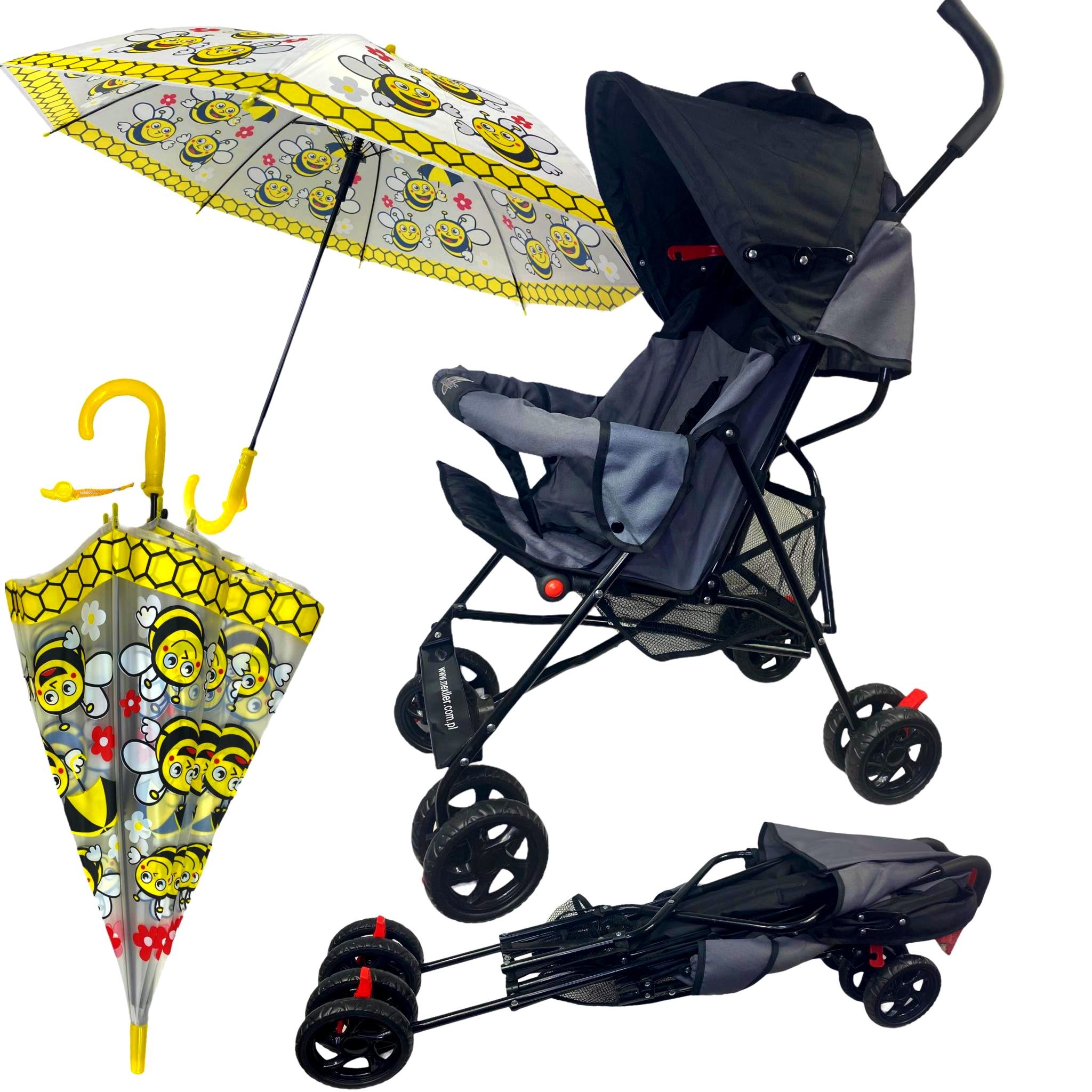 Wózek spacerowy ultra lekki parasolka spacerówka
