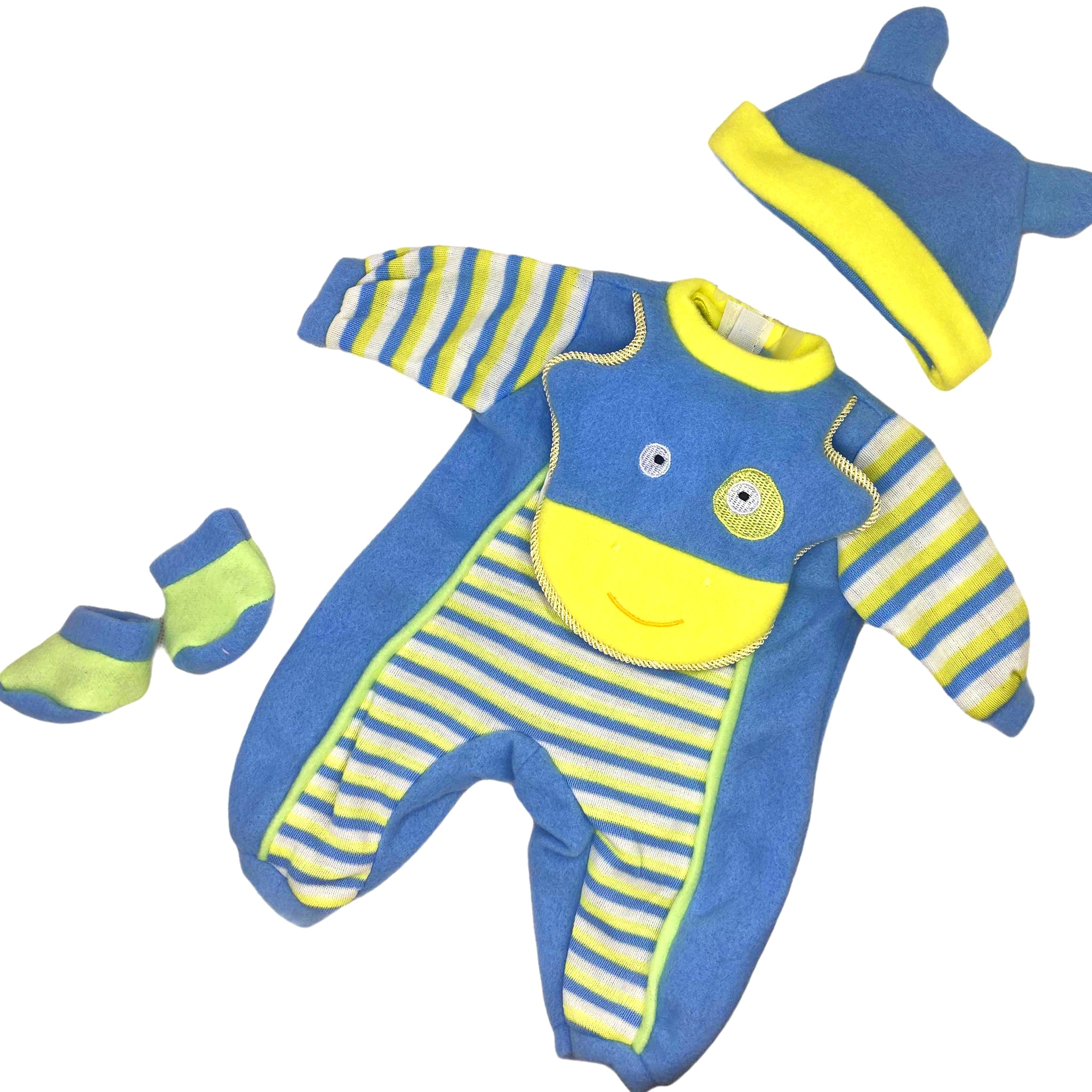 Ubranko dla lalki bobasa chłopięce 40 cm