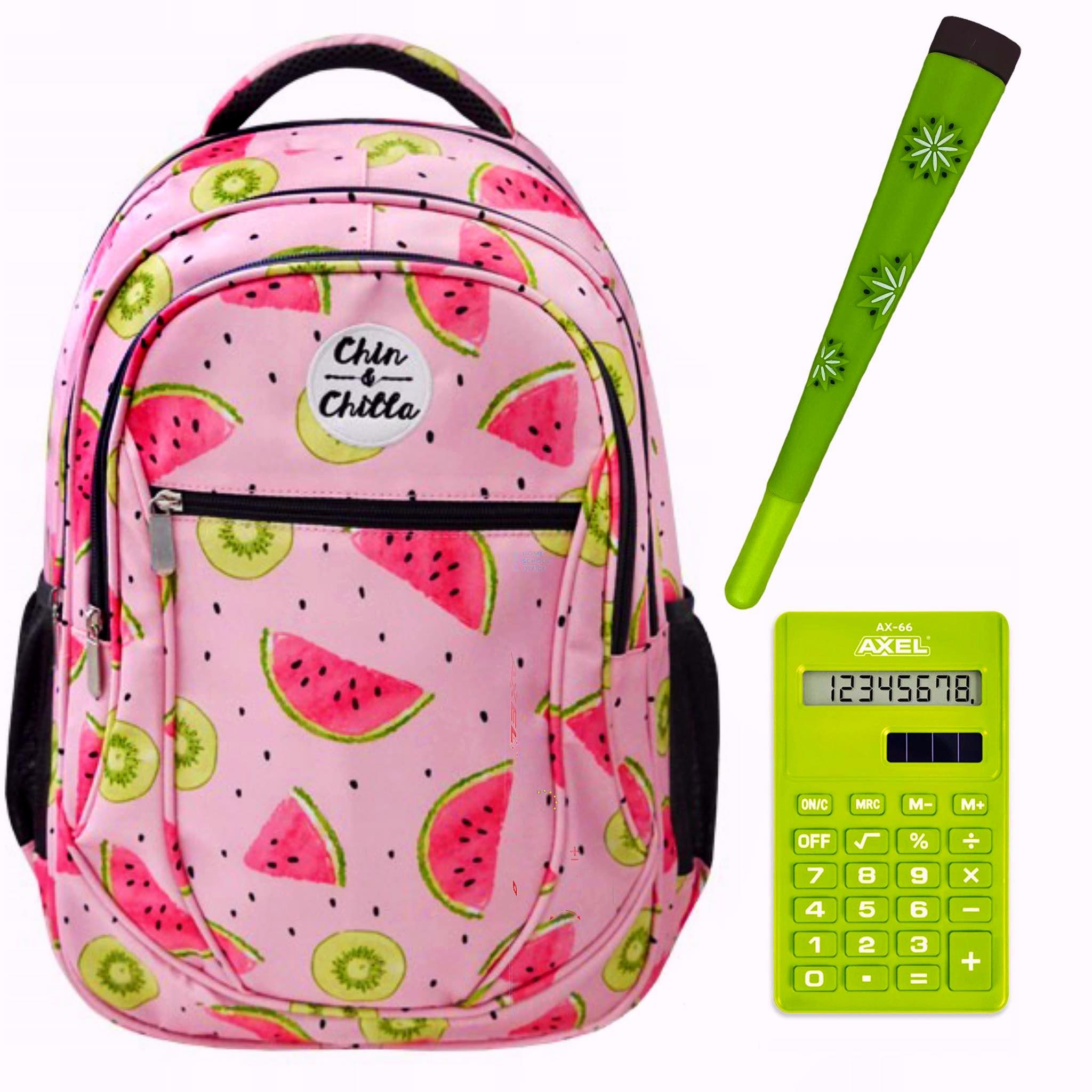 Plecak szkolny młodzieżowy arbuzy 3 komorowy Chin&chilla