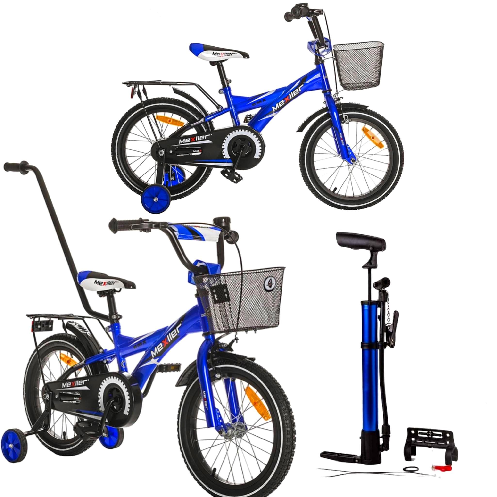 ROWER BMX dla chłopca chłopięcy 16 cali niebieski + pompka