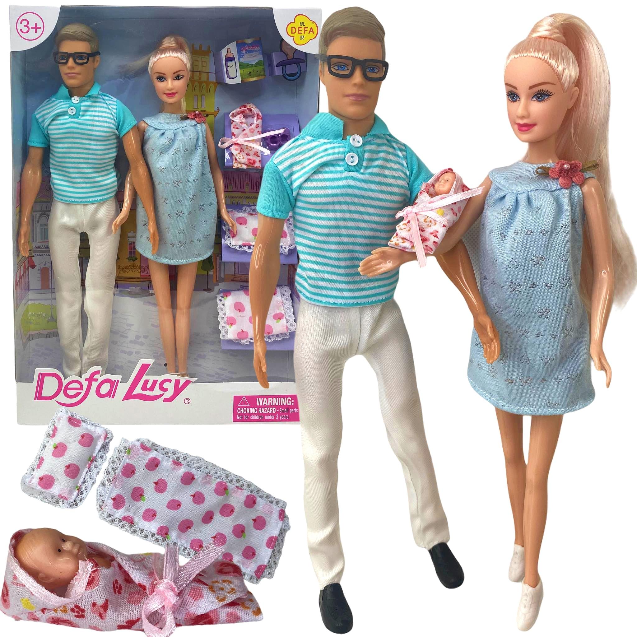 Lalka Barbie w ciąży z brzuszkiem KEN DZIECKO