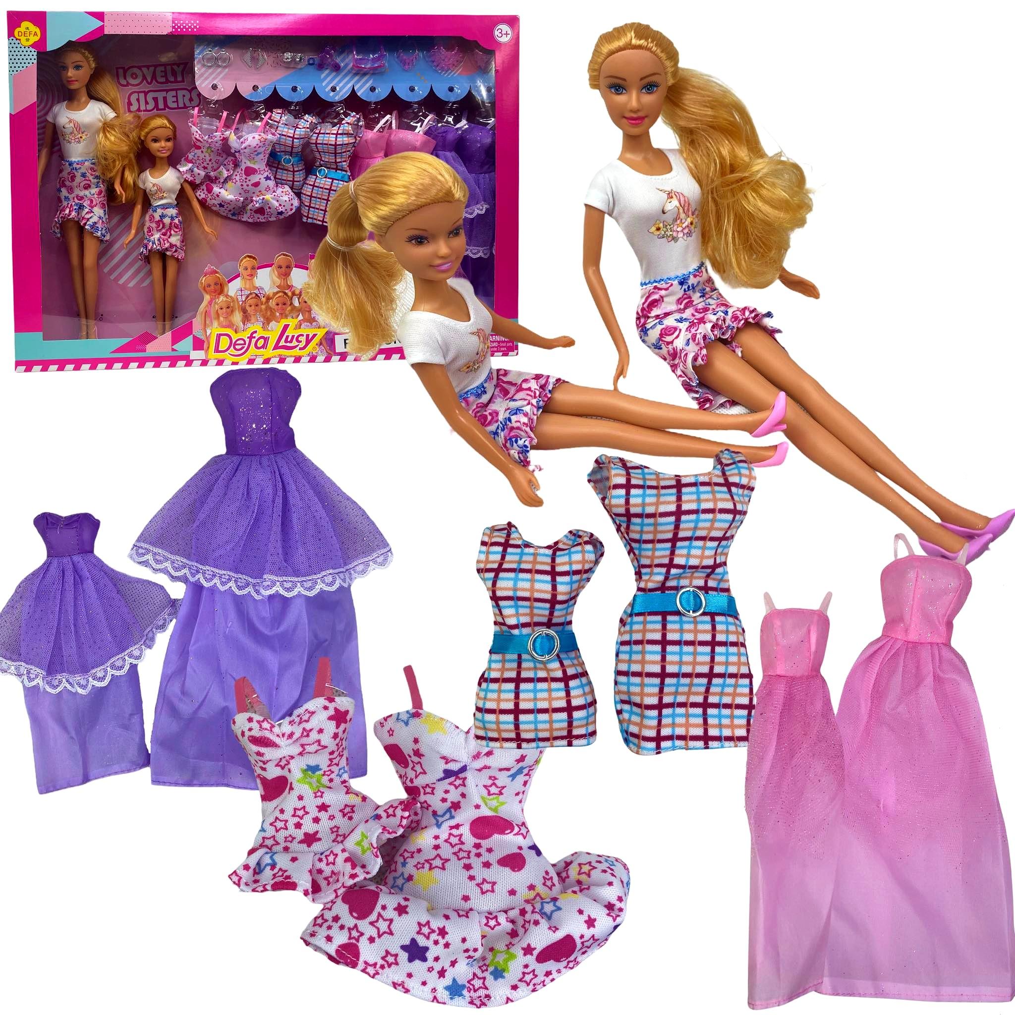 Lalka MAMA CÓRKA Barbie Steffi DEFA SUKIENKI