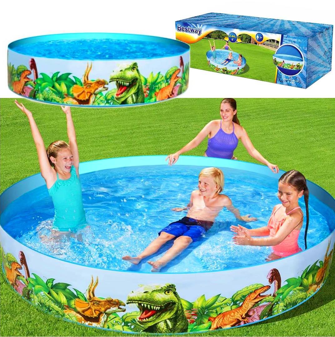 Duży basen rozporowy dziecięcy dla dzieci BESTWAY dinozaury