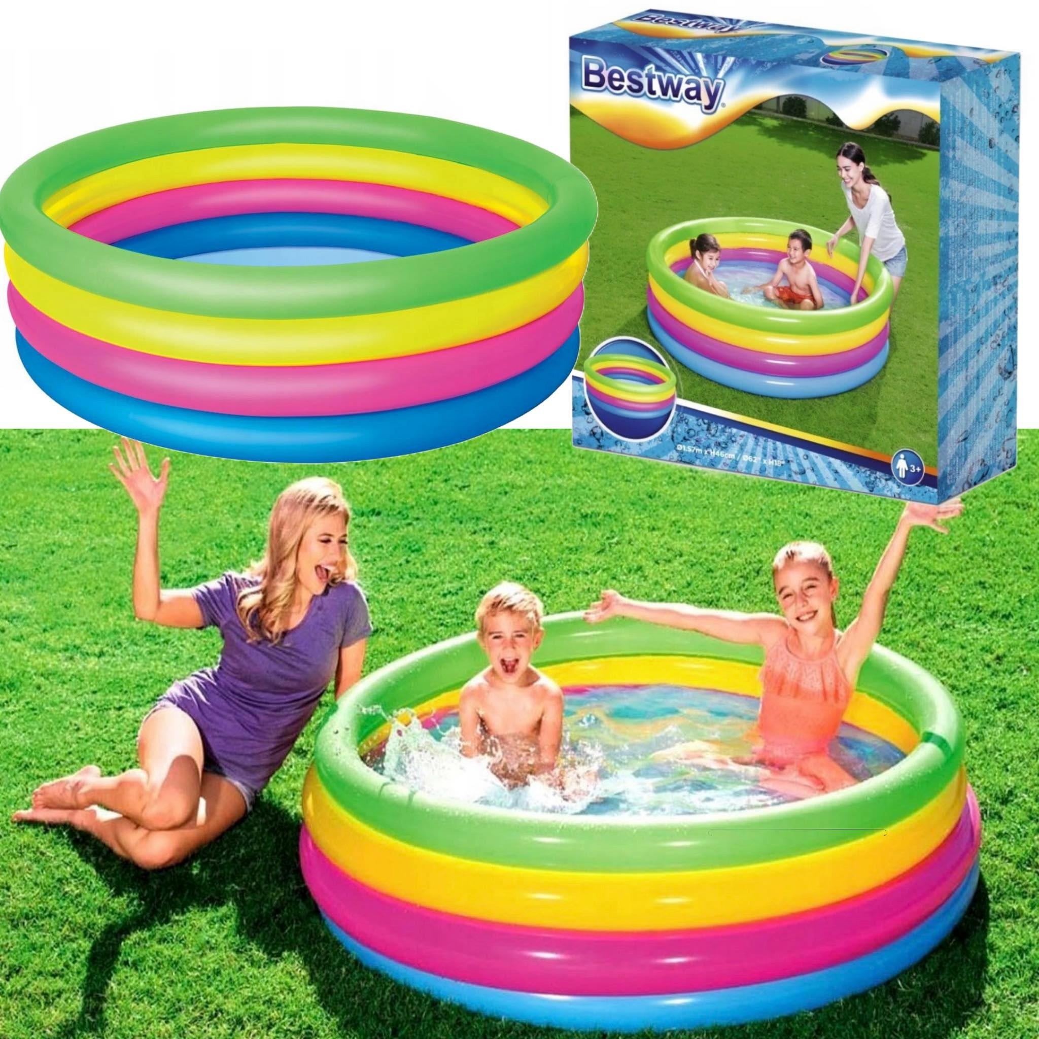 Basen dla dzieci BESTWAY kolorowy ogrodowy dziecięcy kolory