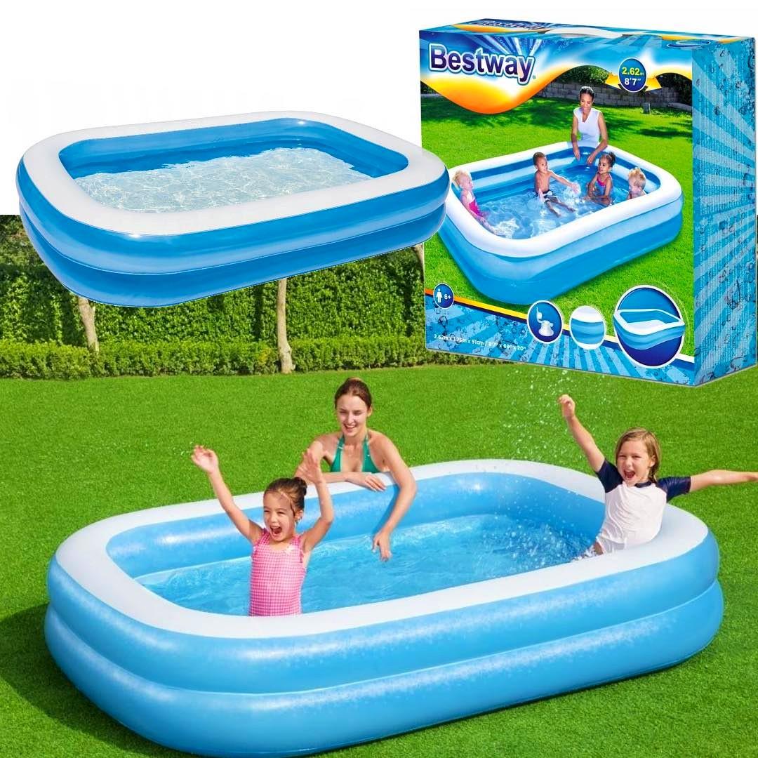 Duży rodzinny basen bestawy ogrodowy dla całej rodziny BESTWAY