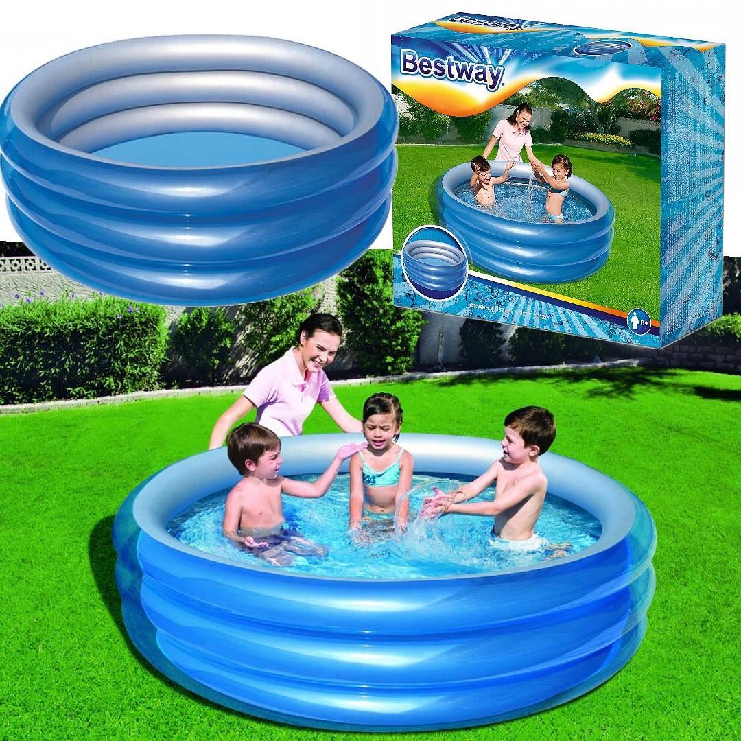 Duży basen BESTWAY dla dzieci dziecięcy ogrodowy pompowany