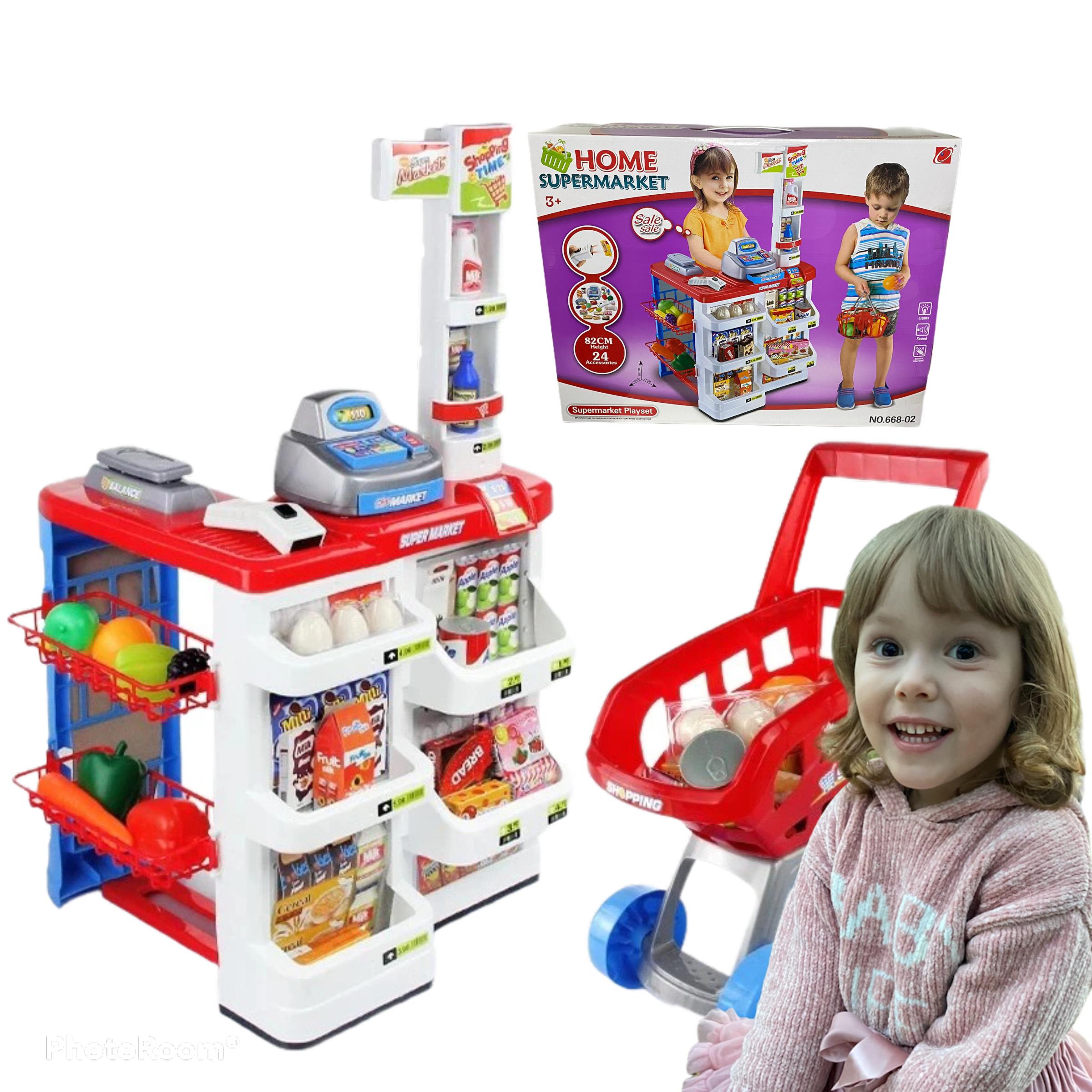 Supermarket Sklep dla Dzieci duży Stragan Koszyk