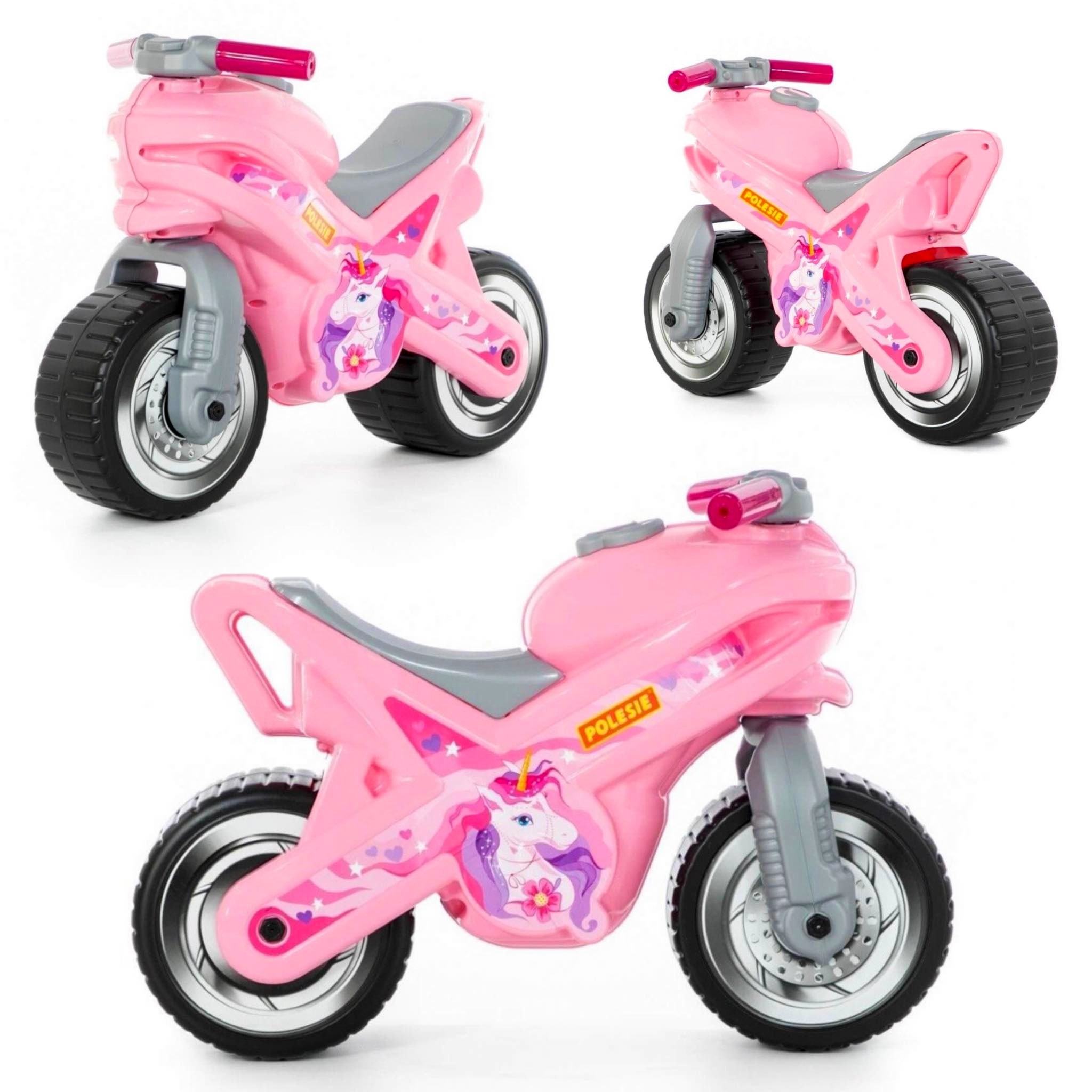 JEŹDZIK Motor Biegowy dla dzieci różowy skuter WADER
