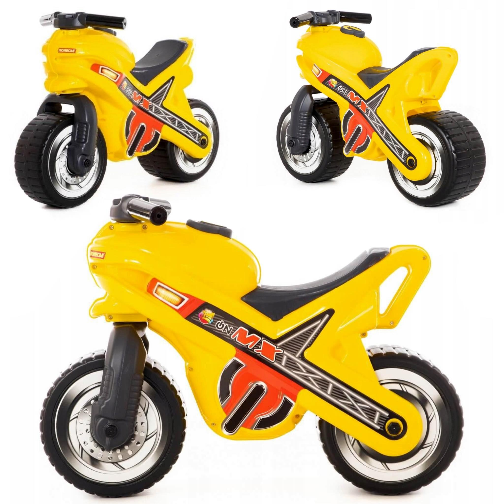 JEŹDZIK Motor Biegowy dla dzieci żółty skuter WADER