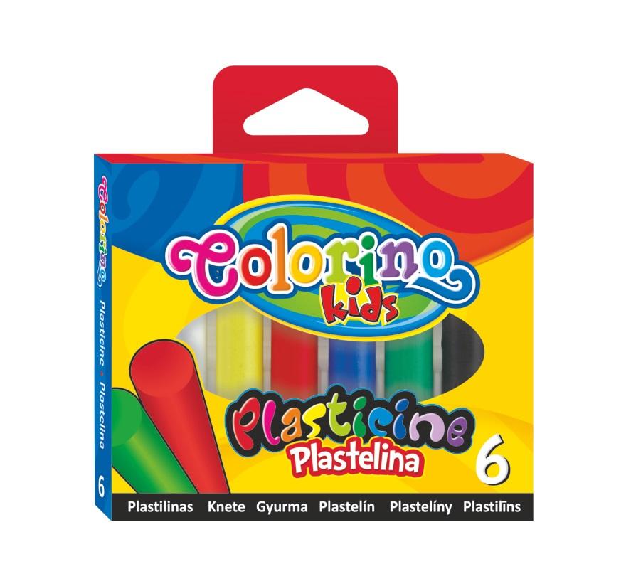 Plastelina 6 kolorów COLORINO