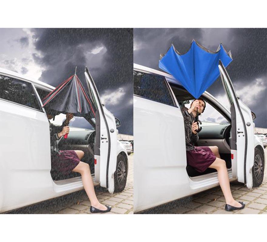 Parasol REVERS - niebieski - Blue Collection