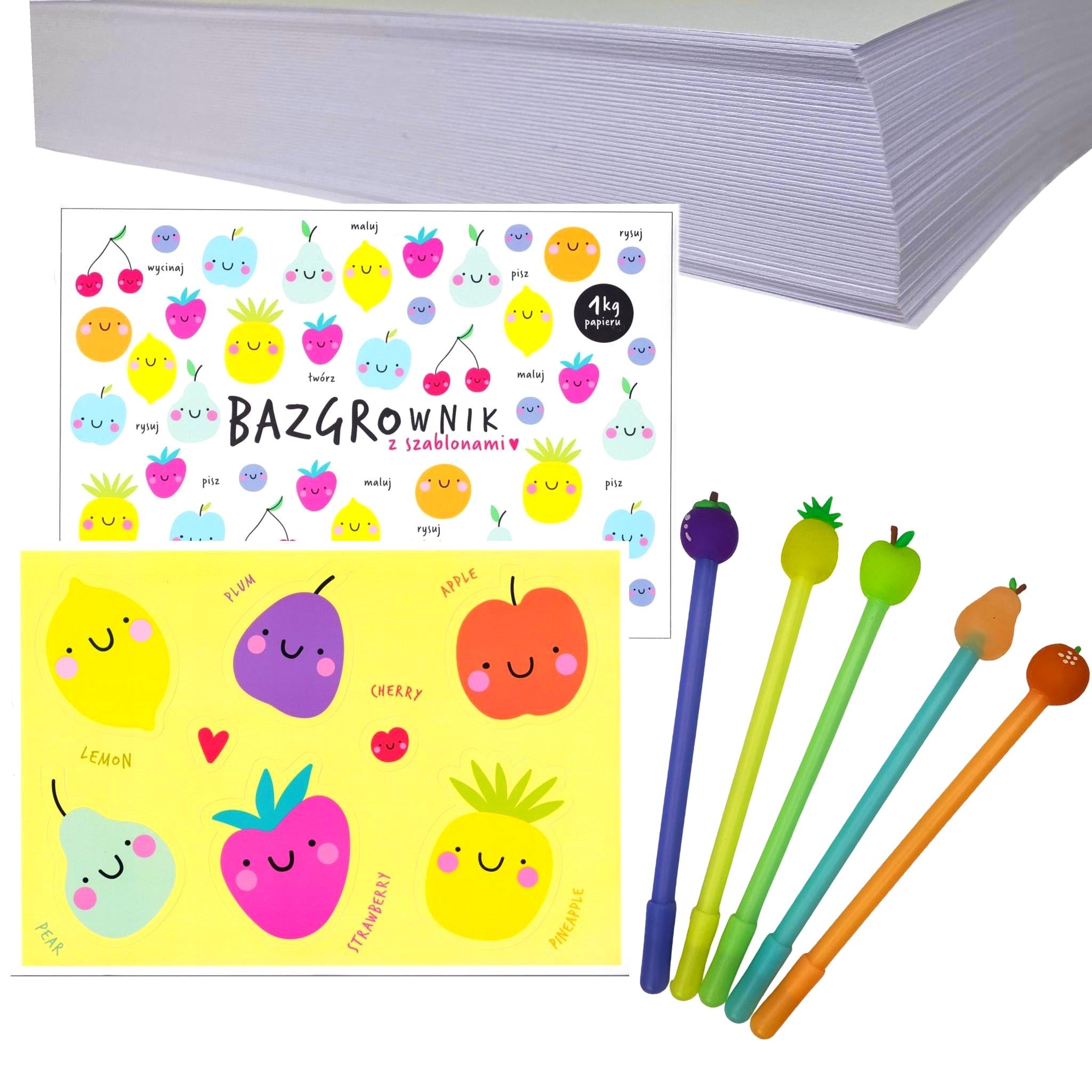 Bazgrownik dla dzieci z szablonami Blok 1 kg papieru