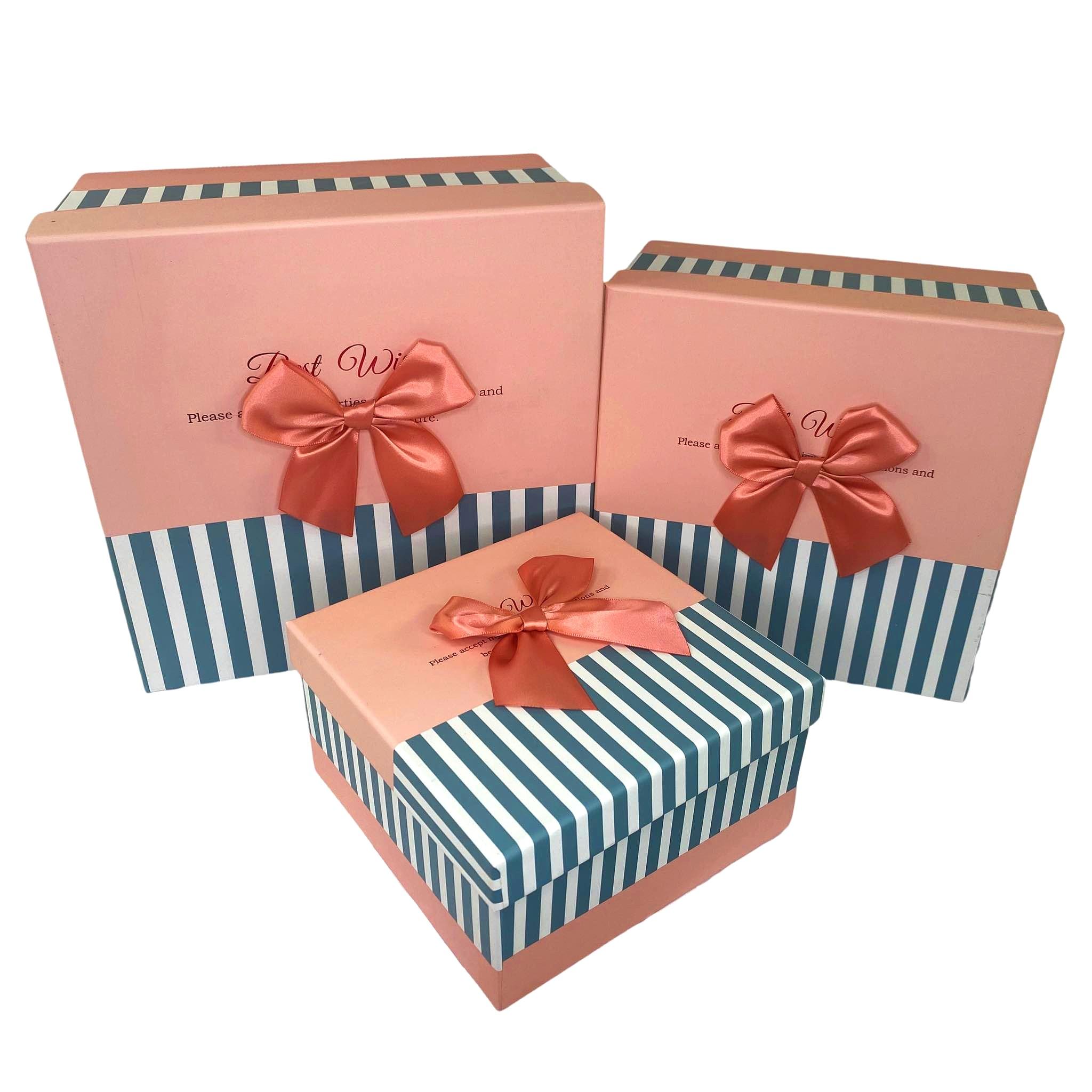 Zestaw 3 pudełek Pudełko prezentowe na prezent ozdobne