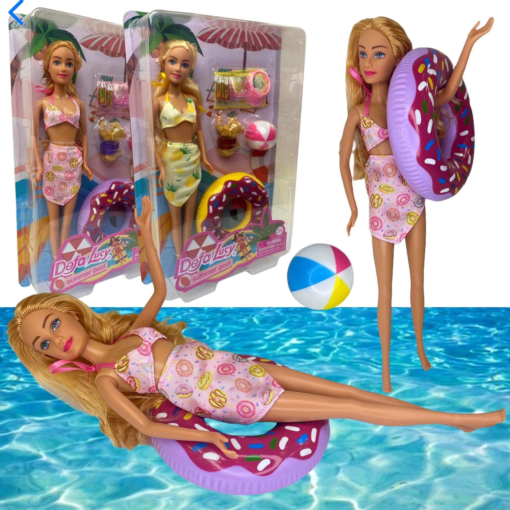 Lalka Barbie Defa Lucy 29 cm z donutem wakacyjna