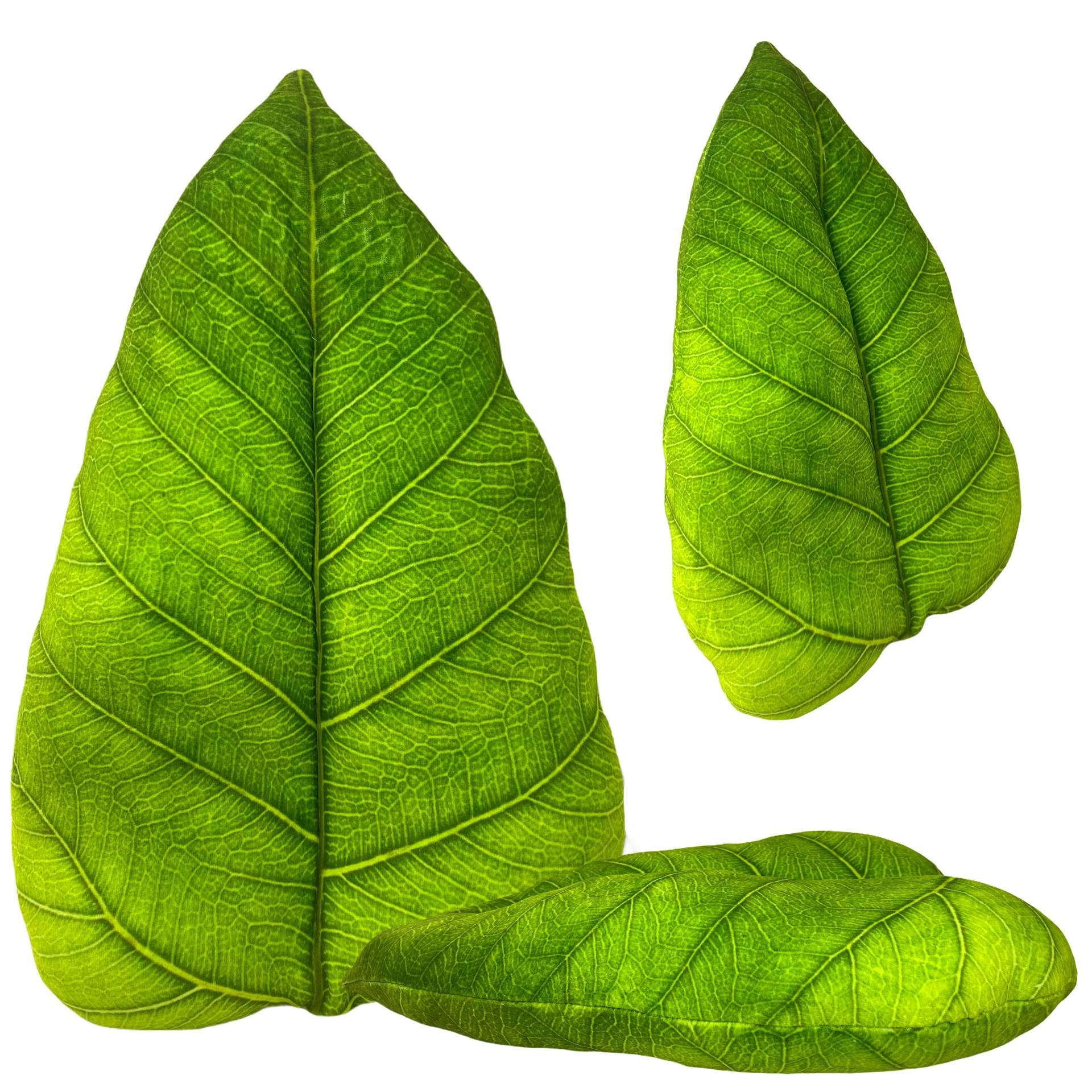 Duża poduszka ozdobna dekoracyjna liść
