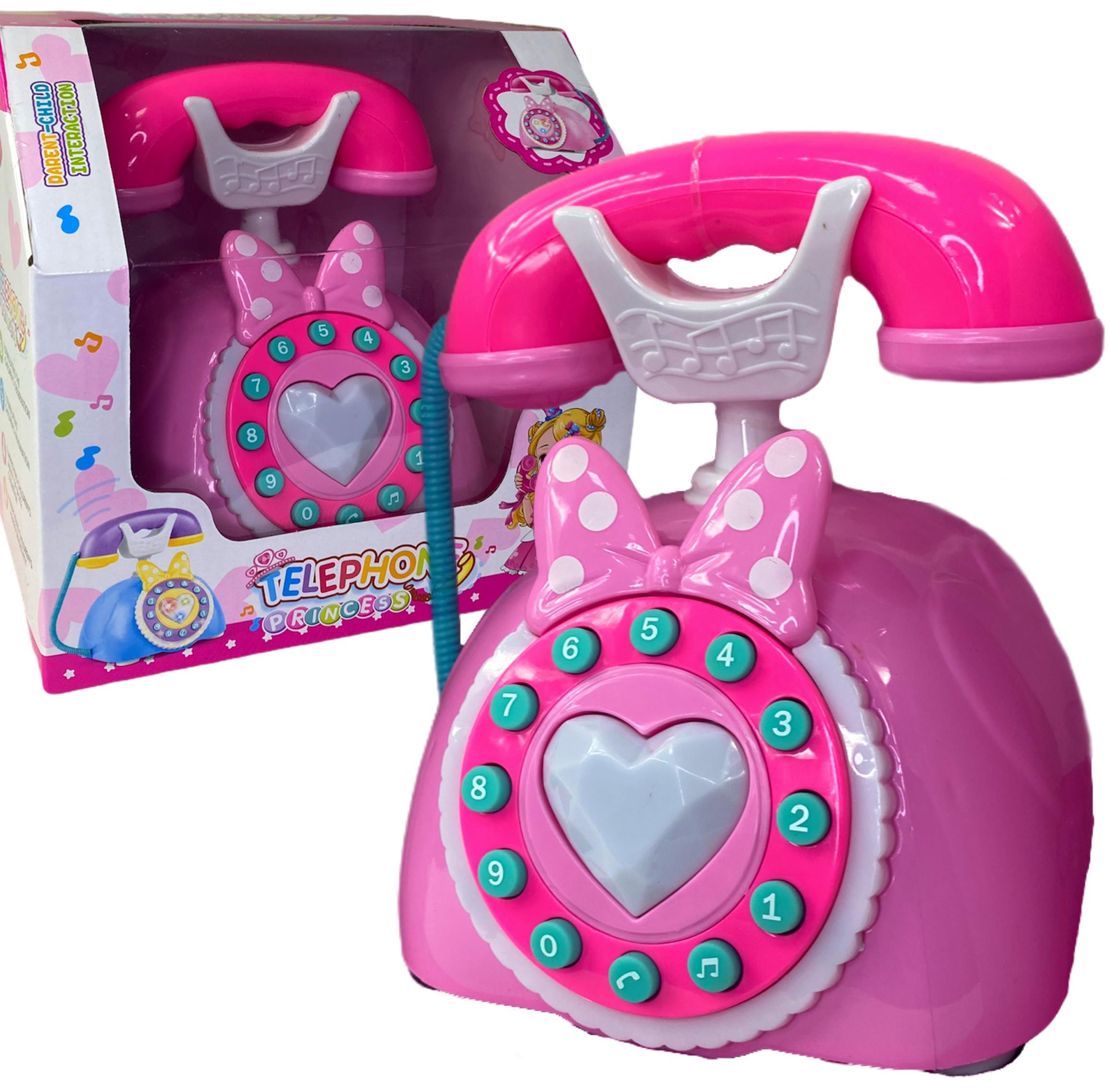 Telefon dla dziecka Interaktywny z słuchawką Myszka Minnie