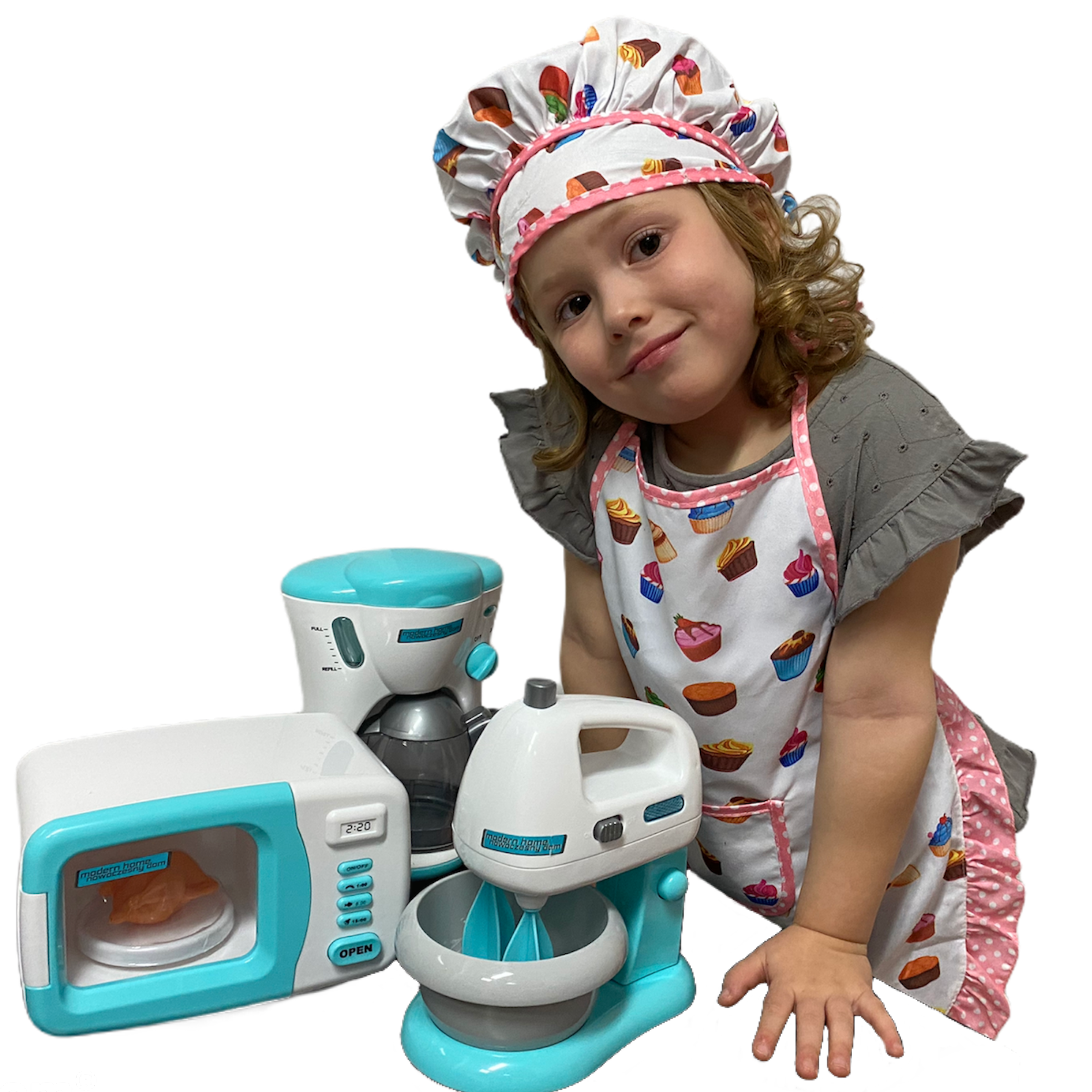 Zestaw agd dla dzieci kuchenny ekspres mikrofala mikser