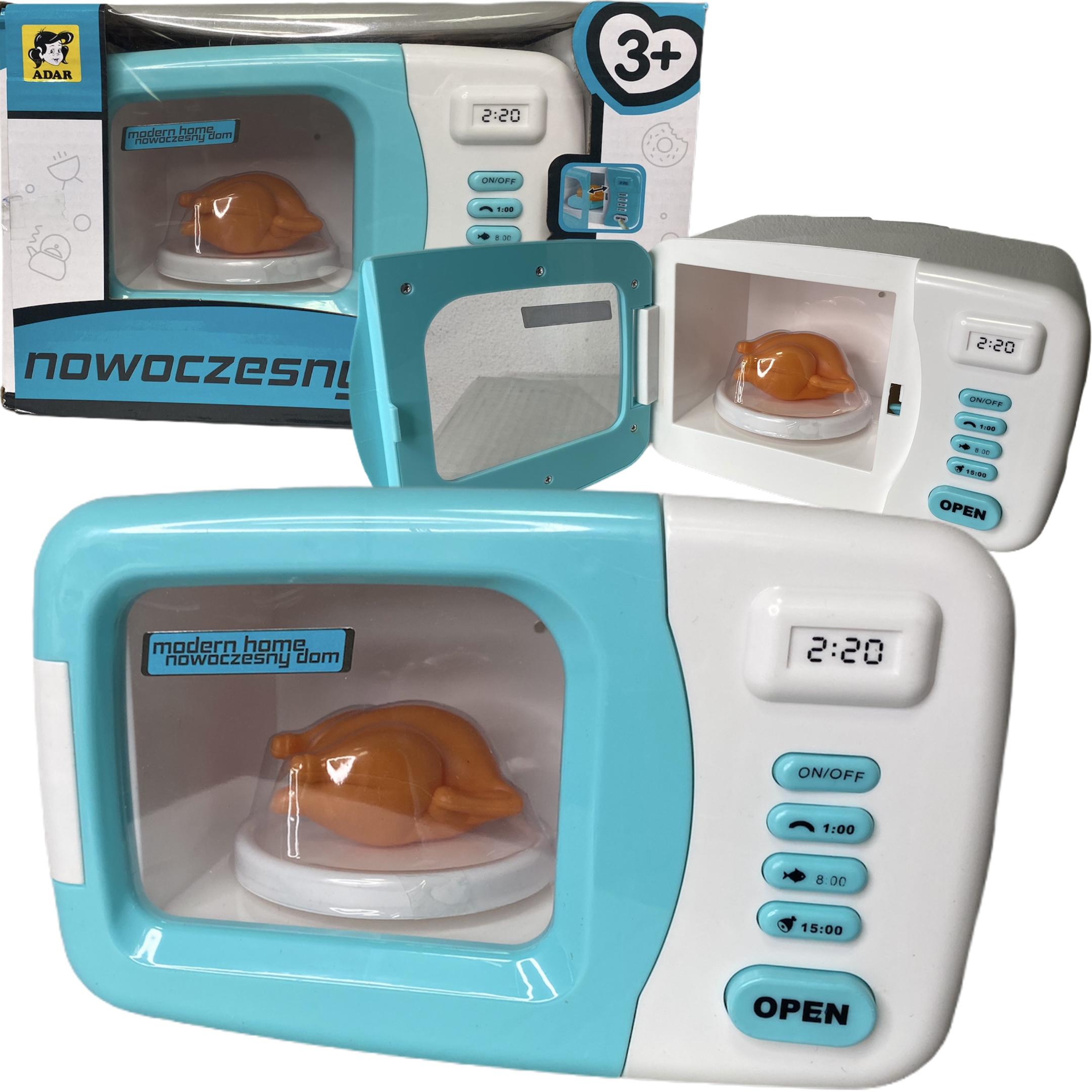 mikrofalówka dla dzieci kuchnia mikrofala zabawkowa interaktywna