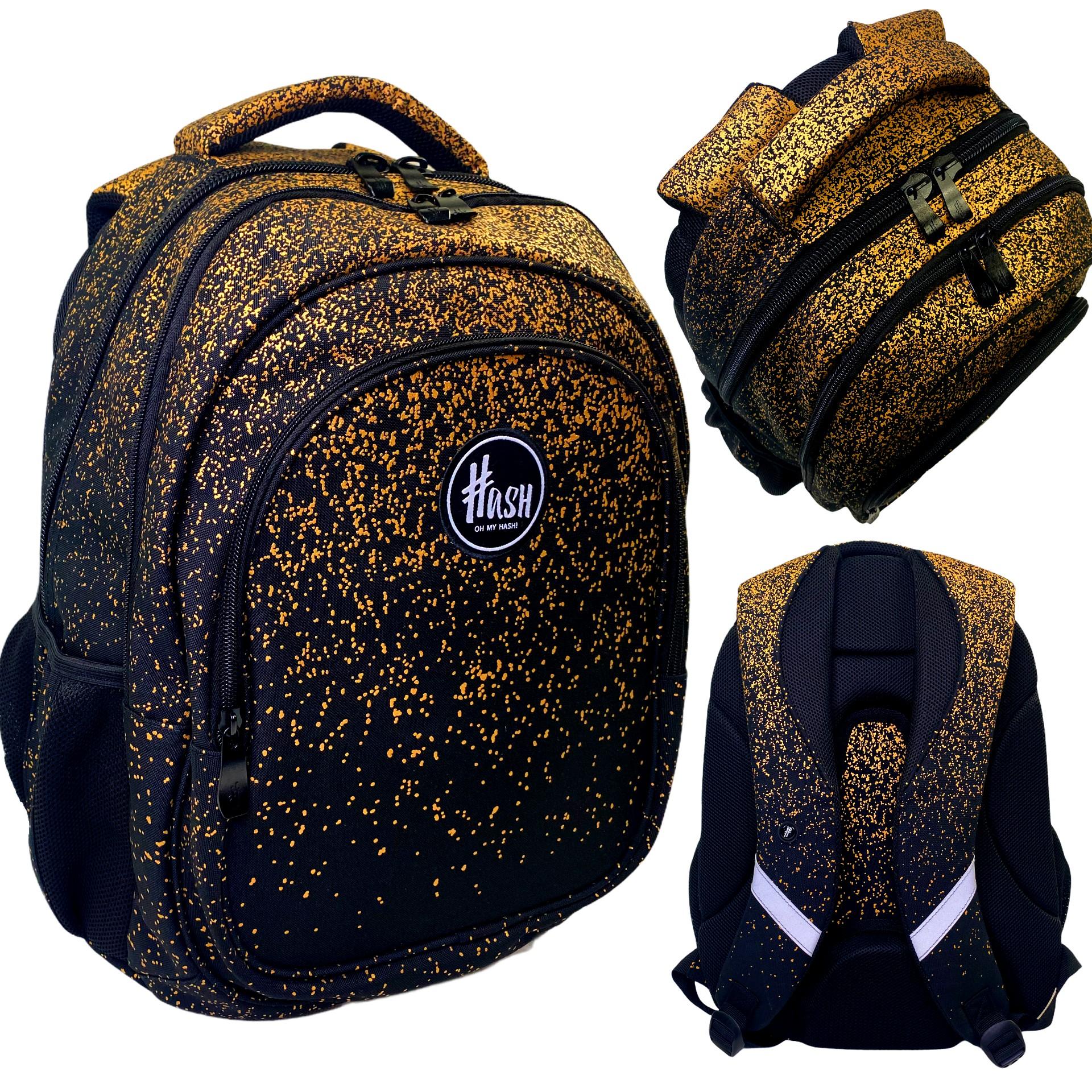 Plecak SZKOLNY młodzieżowy HEAD HASH Golden Dust