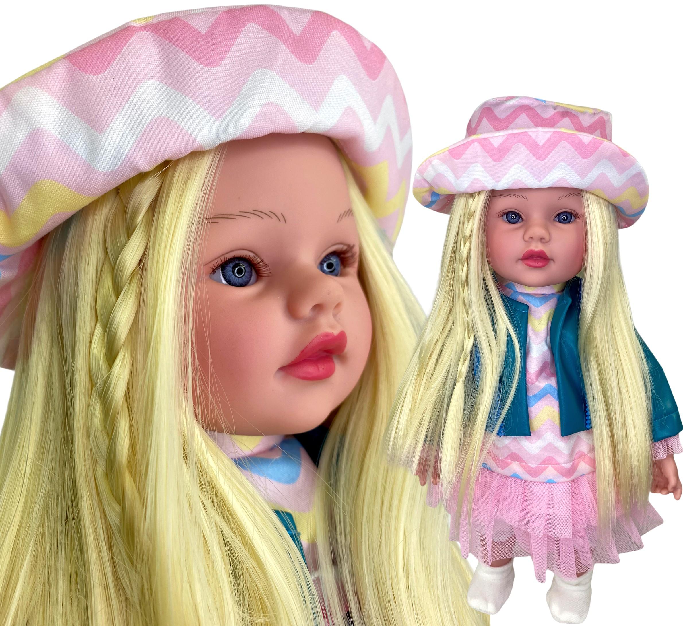 Lalka interaktywna jak żywa długie włosy mówi i śpiewa po polsku