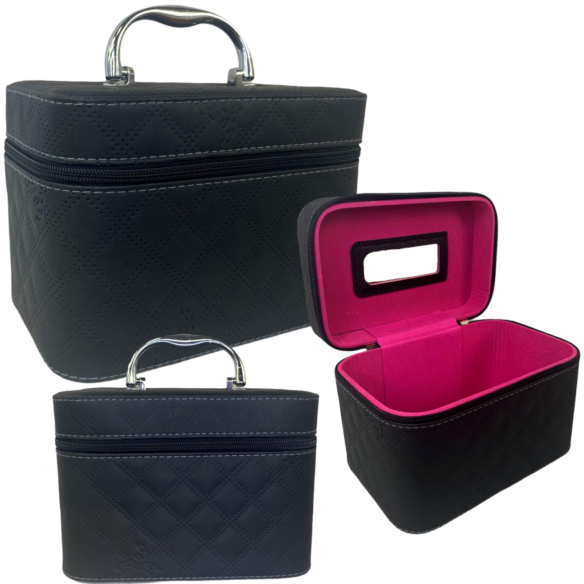 Kuferek kosmetyczny Szkatułka Pikowany Na prezent