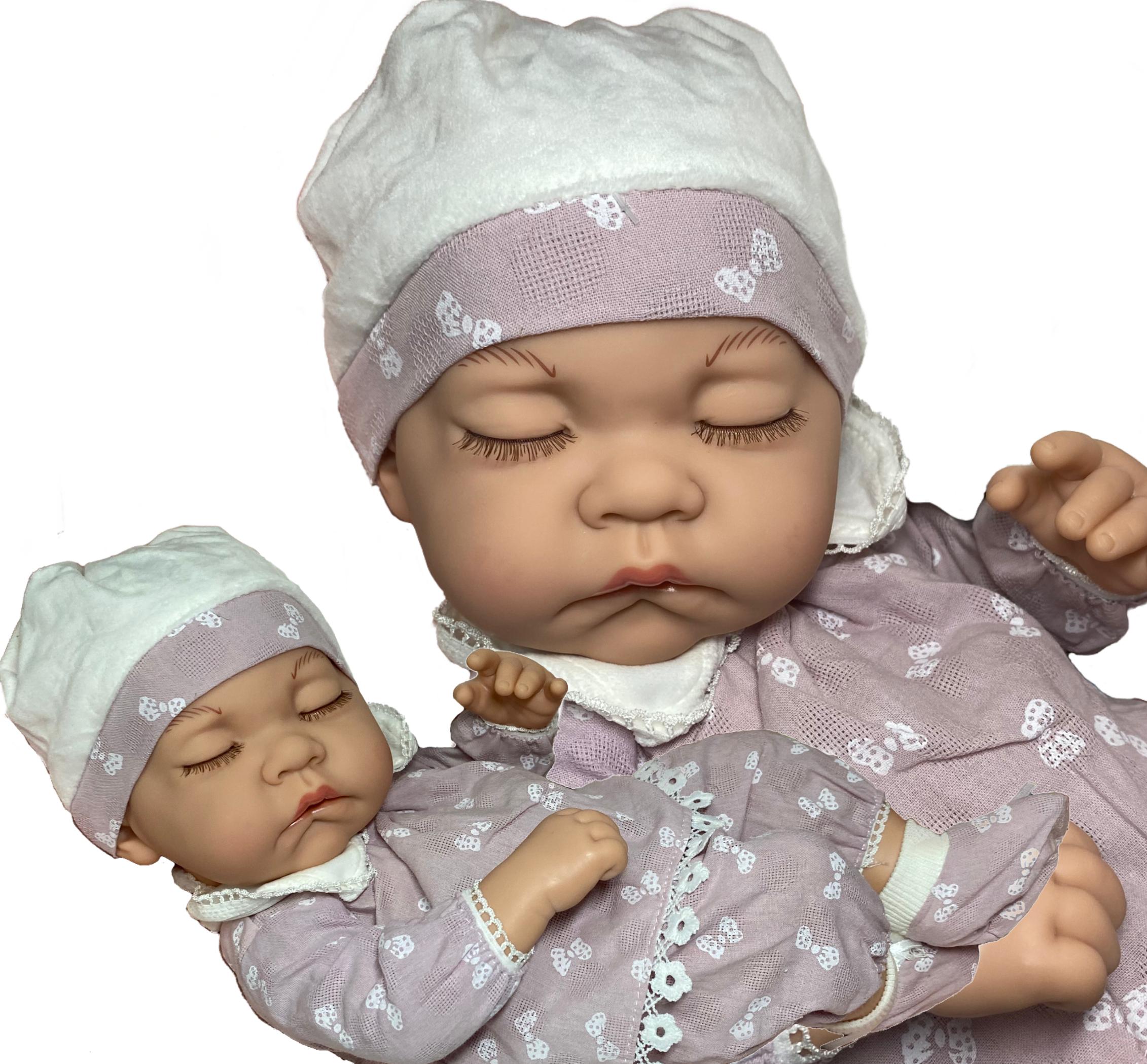 Lalka jak żywa hiszpanka śpiąca 38 cm bobas