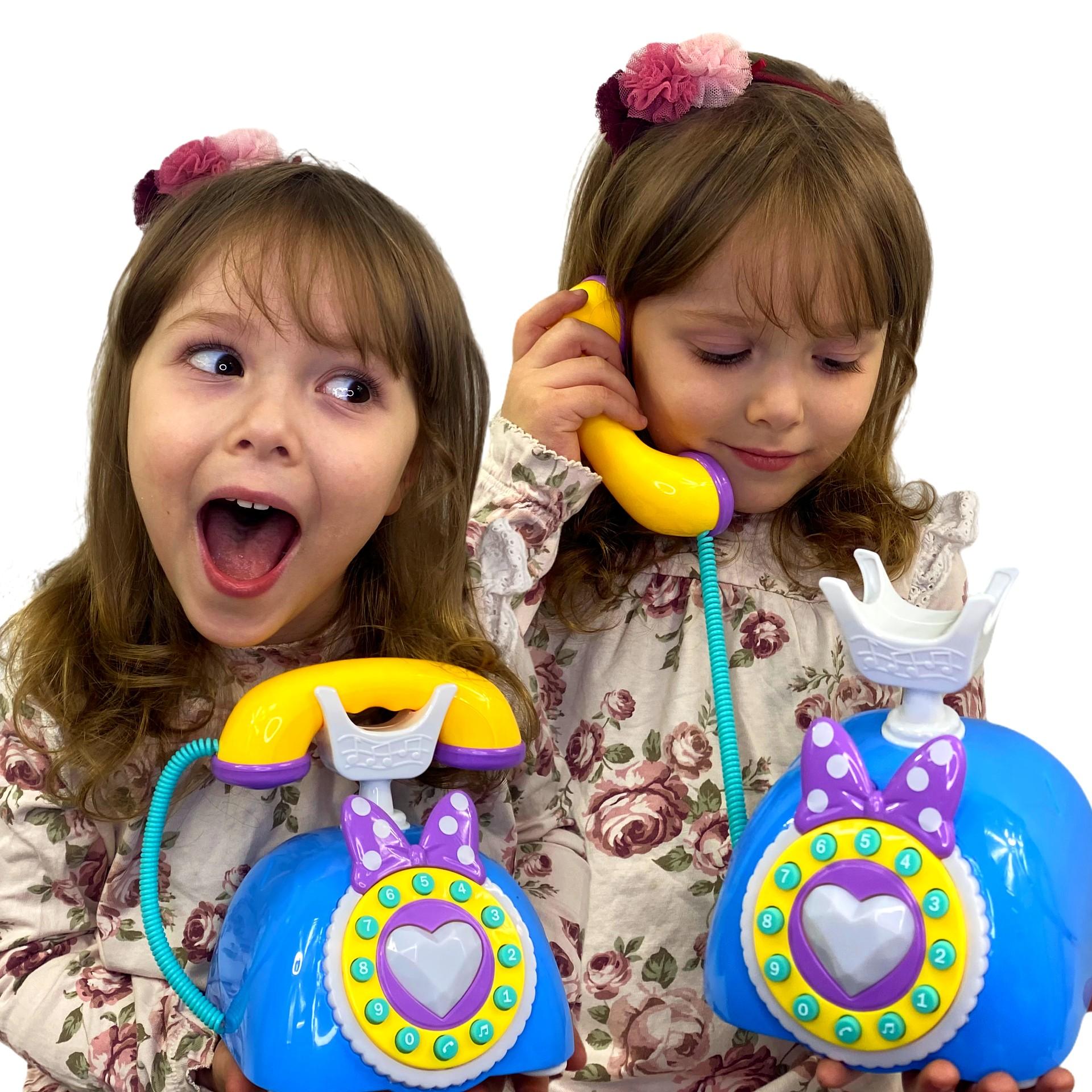 Telefon dla dzieci z słuchawką MINNIE gra i świeci