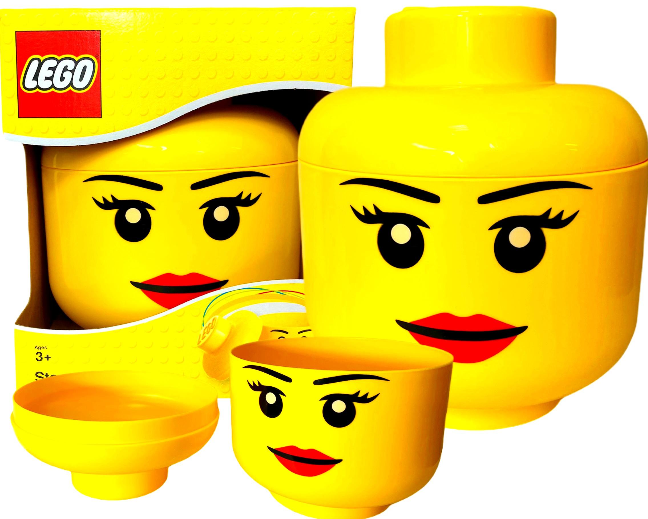 POJEMNIK LEGO GŁOWA DZIEWCZYNA DZIEWCZYNKA DUŻY L