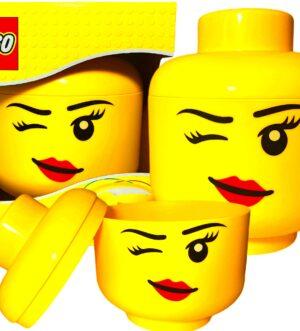 POJEMNIK GŁOWA LEGO WHINKY MRUGAJĄCE OCZKO DUZY L