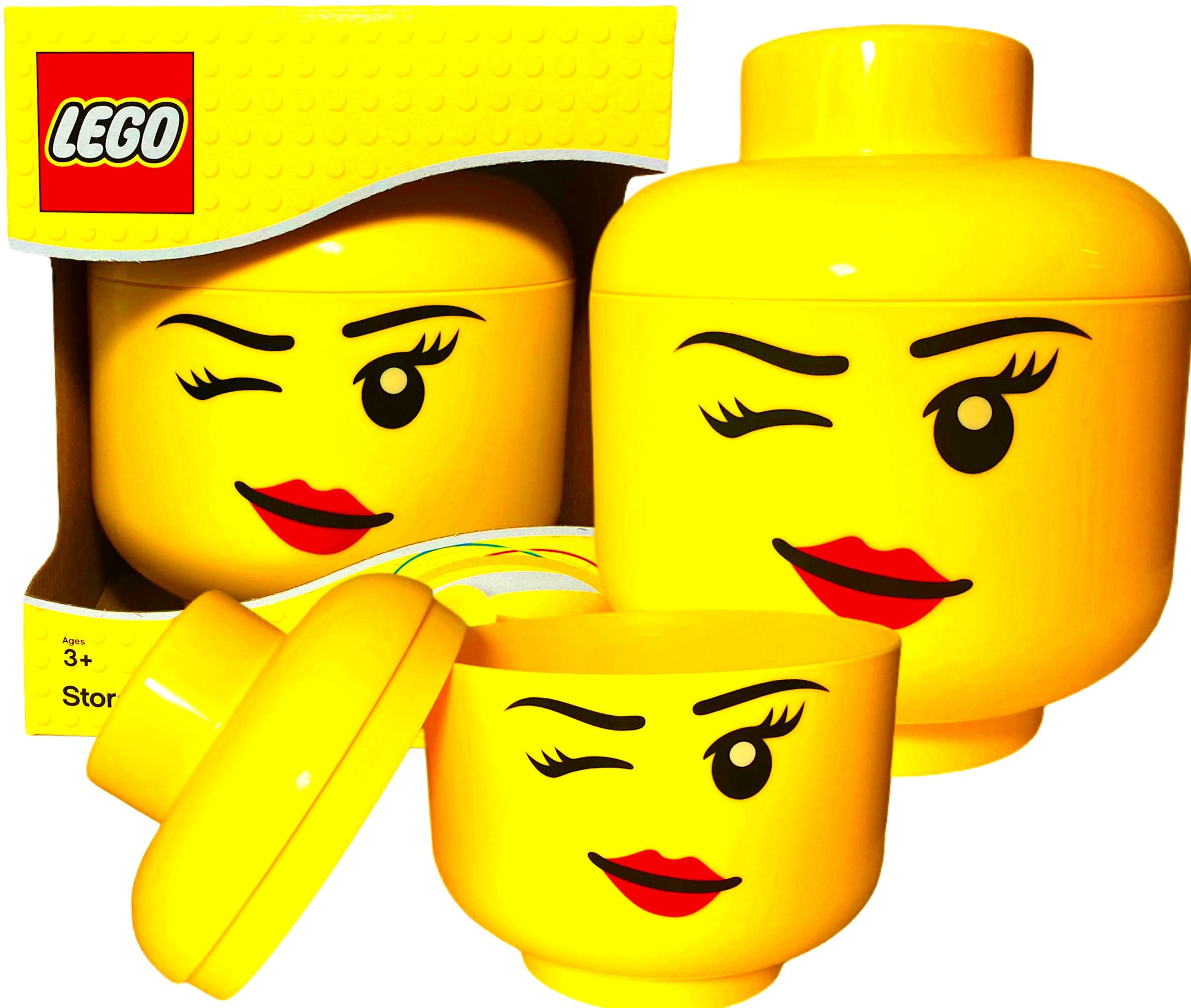 Pojemnik Lego głowa whinky mrugające oczko Duzy L