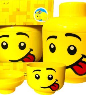 POJEMNIK LEGO SILLY CHŁOPIEC Z JĘZYKIEM GŁUPTASEK DUŻY L