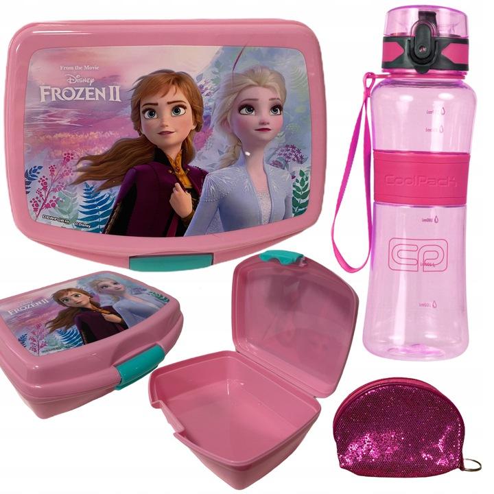 zestaw szkolny lunchbox frozen Kraina Lodu Coolpack śniadaniówka bidon różowy