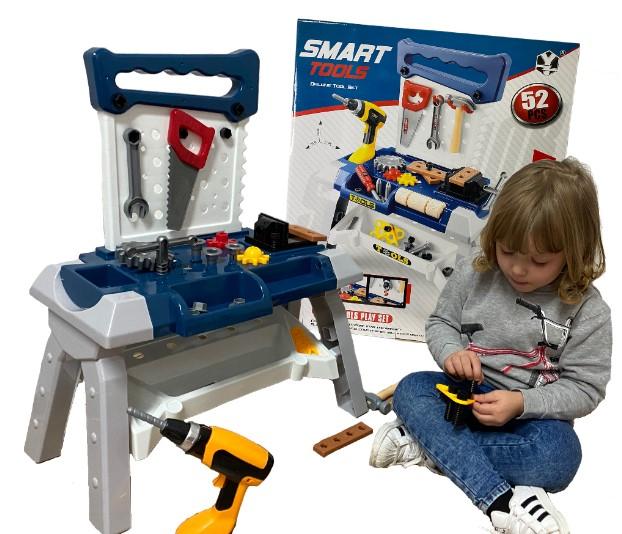 Stół z narzędziami do majsterkowania Duży 52 elementy