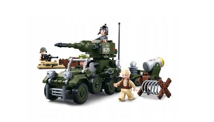 Klocki Sluban WOJSKO CZOŁG POJAZD WOJSKOWY 332 el pasuje do LEGO