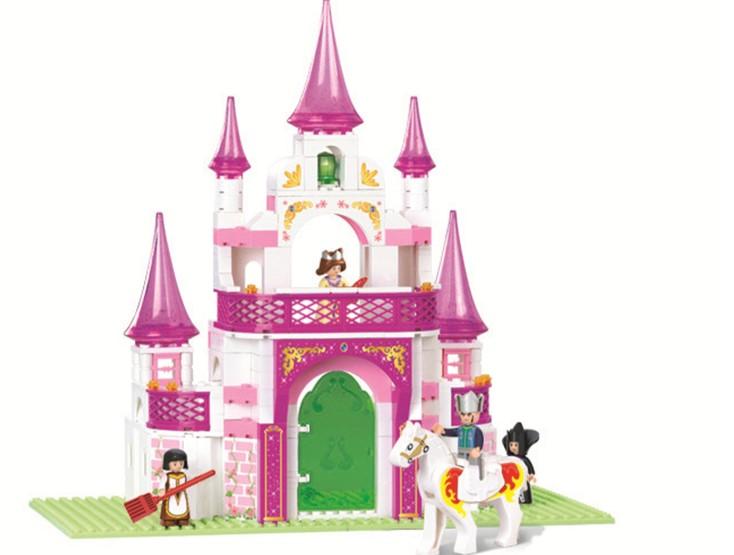 klocki SLUBAN PASUJE DO LEGO zamek księżniczka pałac 271 el