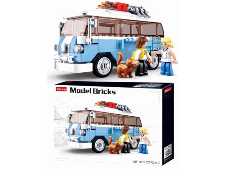 Klocki Sluban MODEL BRICKS AUTOBUS CAMPER 227 el PASUJE DO LEGO