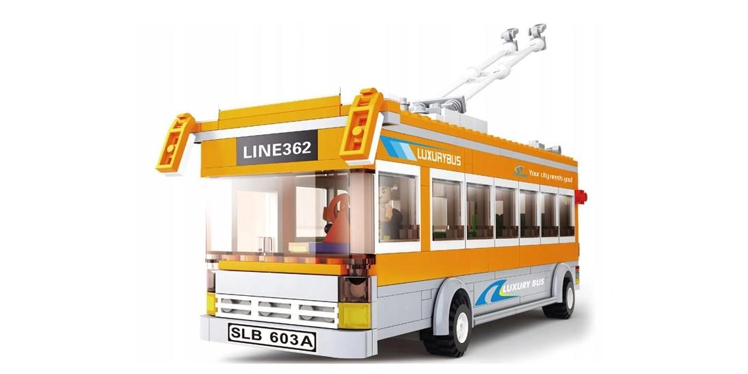 Klocki Sluban Town AUTOBUS I PRZYSTANEK 457 el PASUJE DO LEGO