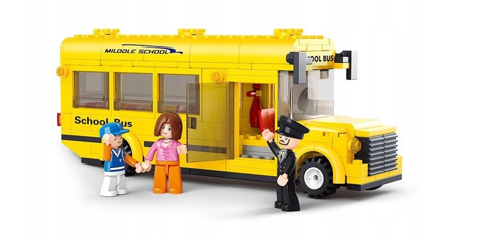 Klocki Sluban Town Szkoła AUTOBUS SZKOLNY 219 el PASUJE DO LEGO